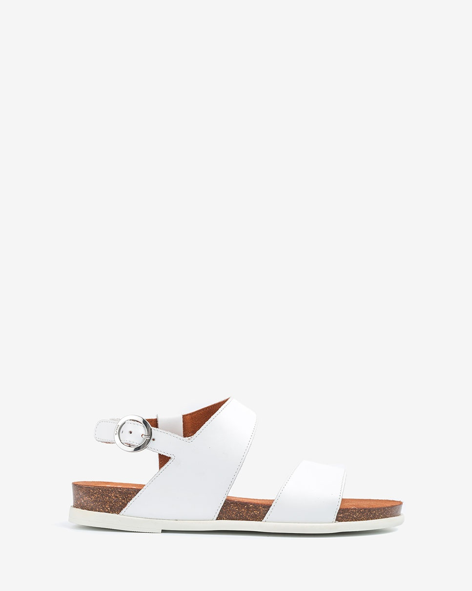 UNISA Leather bio sandals CANOVAS_NF white 2