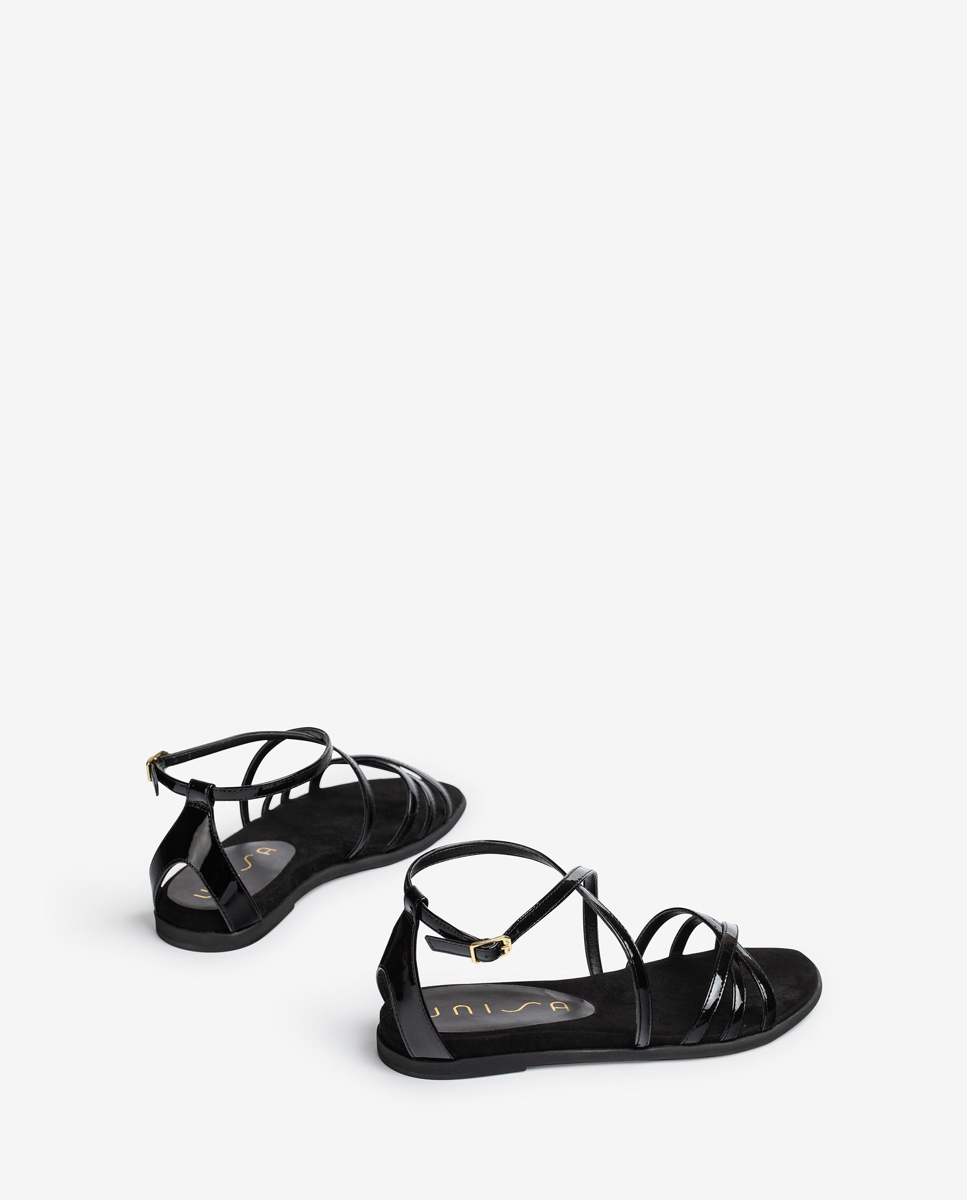 UNISA Patent leather flat sandals CARCER_PA 2