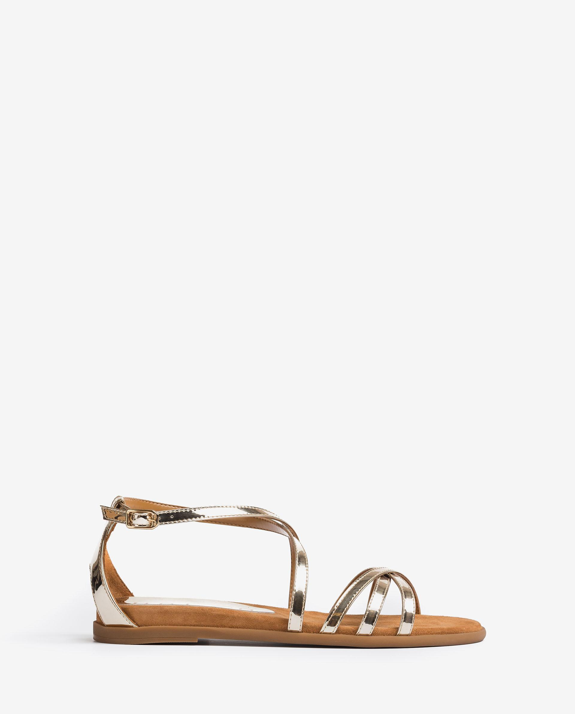 UNISA Mirror effect leather sandals CARCER_SP 2