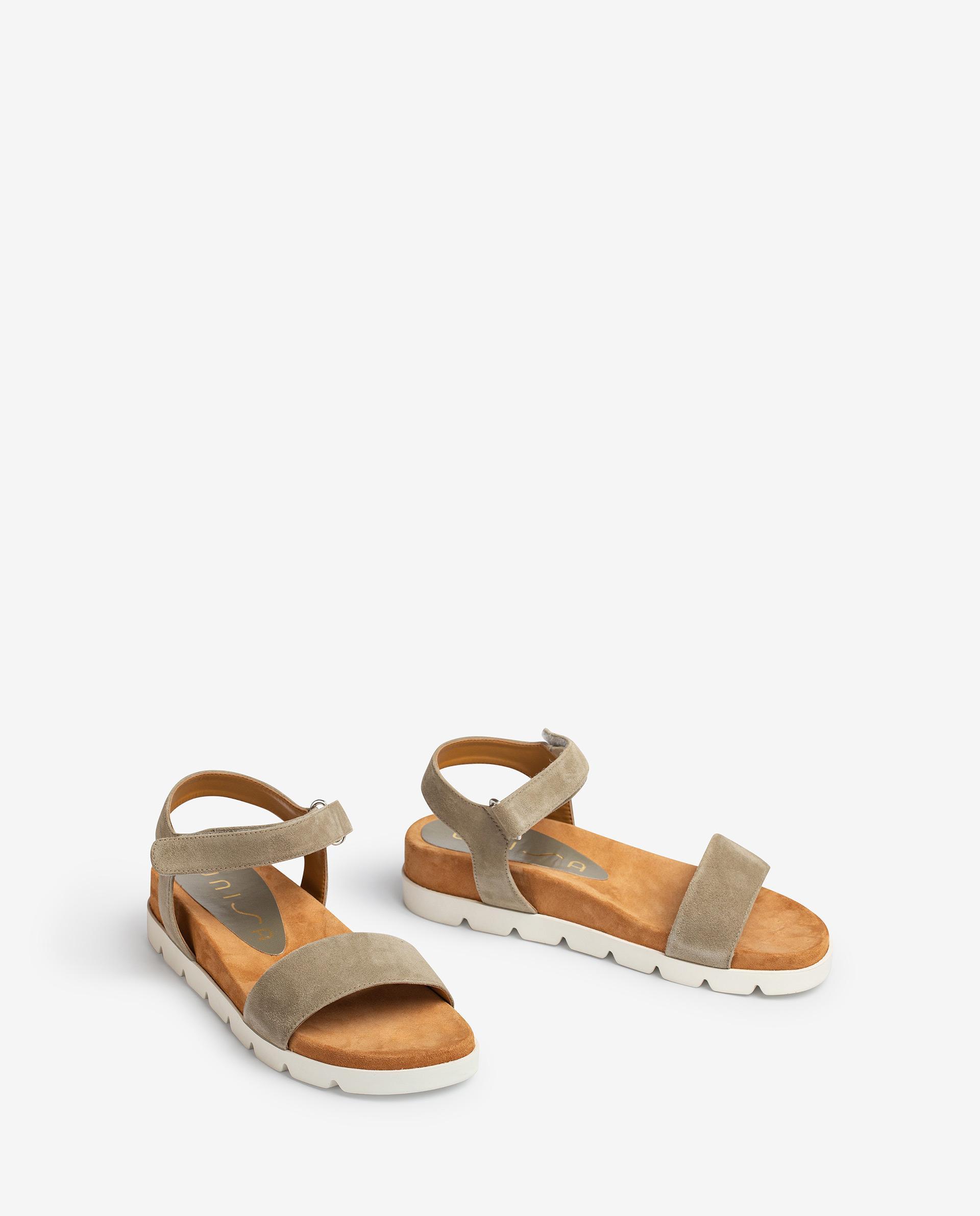 UNISA Kid suede sandals with hook and loop closure CEPEDA_KS 2