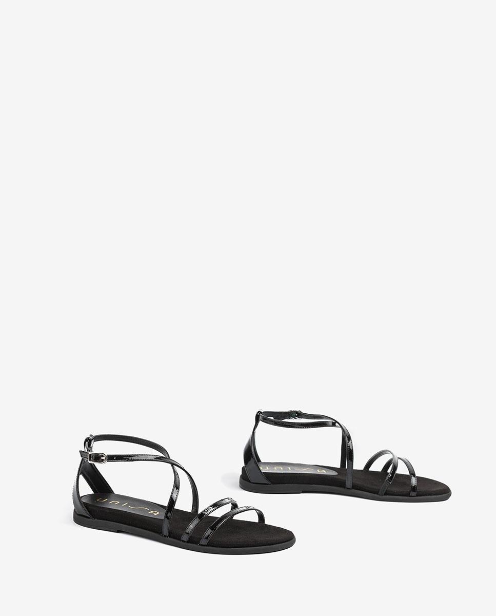 UNISA Multi patent leather straps sandals CIRILA_PA black 2