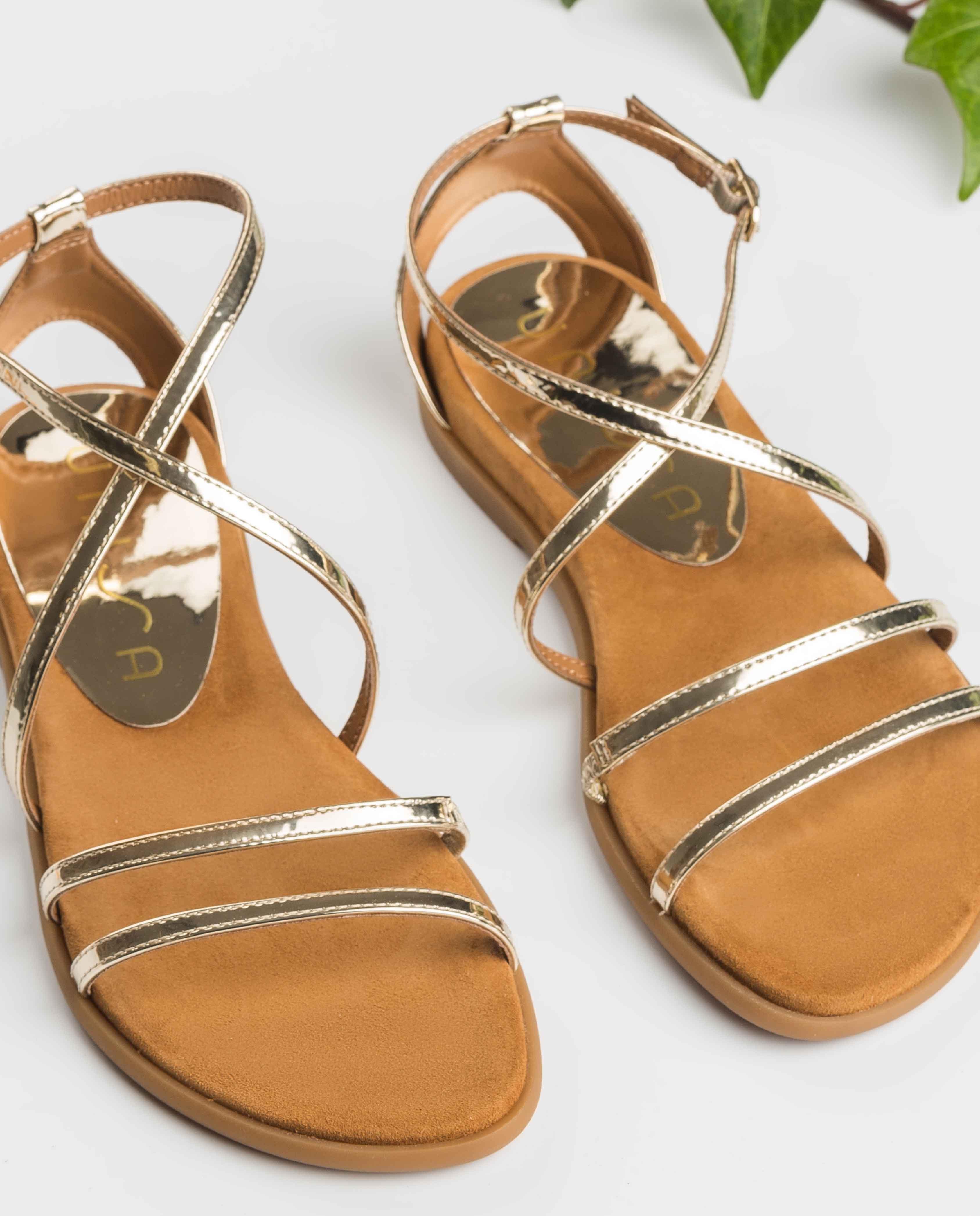 UNISA Mirror multi straps sandals CIRILA_SP platino 2