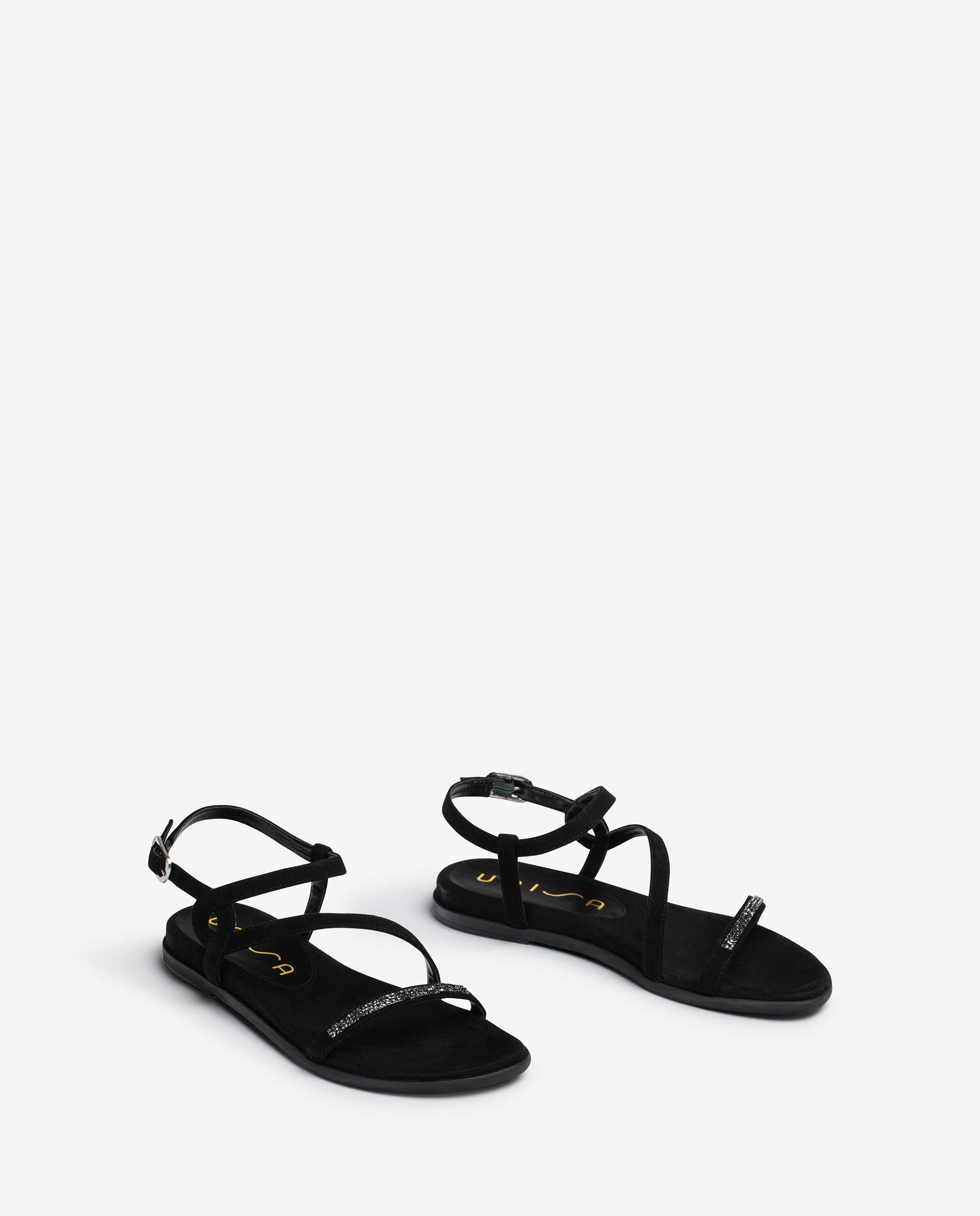UNISA Kid suede sandals with Swarovski CLARIS_21_KS 2