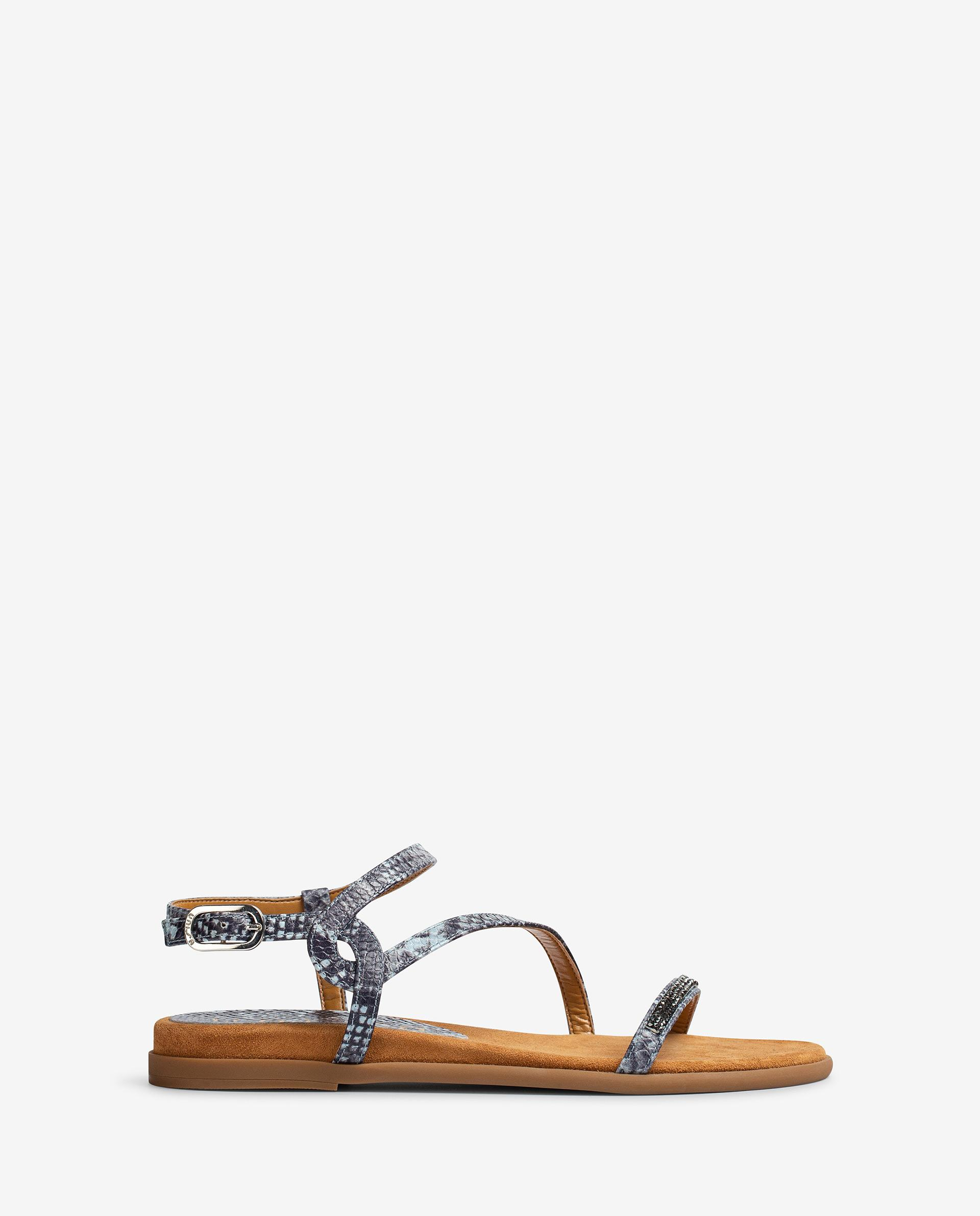 UNISA Snake effect leather sandals with Swarovski CLARIS_21_VIP 2