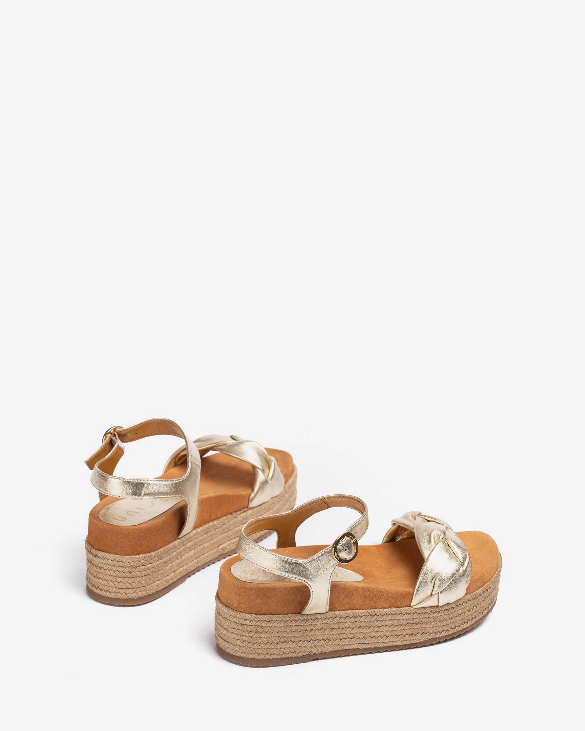UNISA Shiny platform padded sandals CLOY_LMT 2