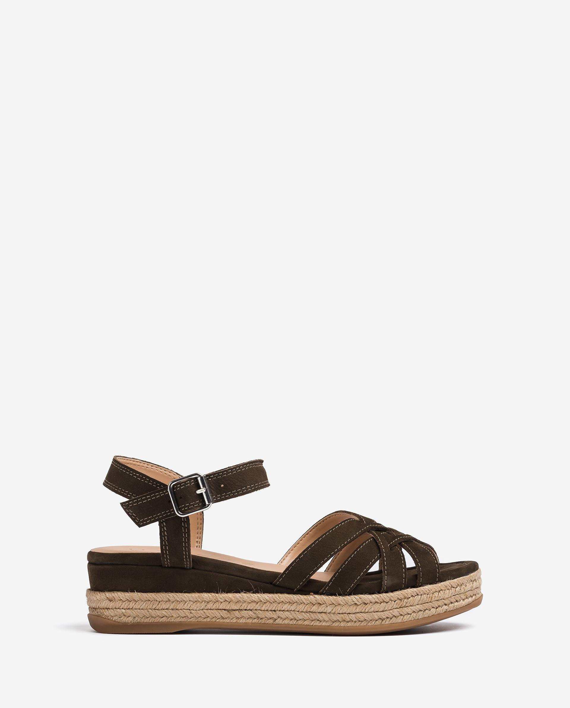 UNISA Leather sandals with metallic buckle GALDAR_BLU 2