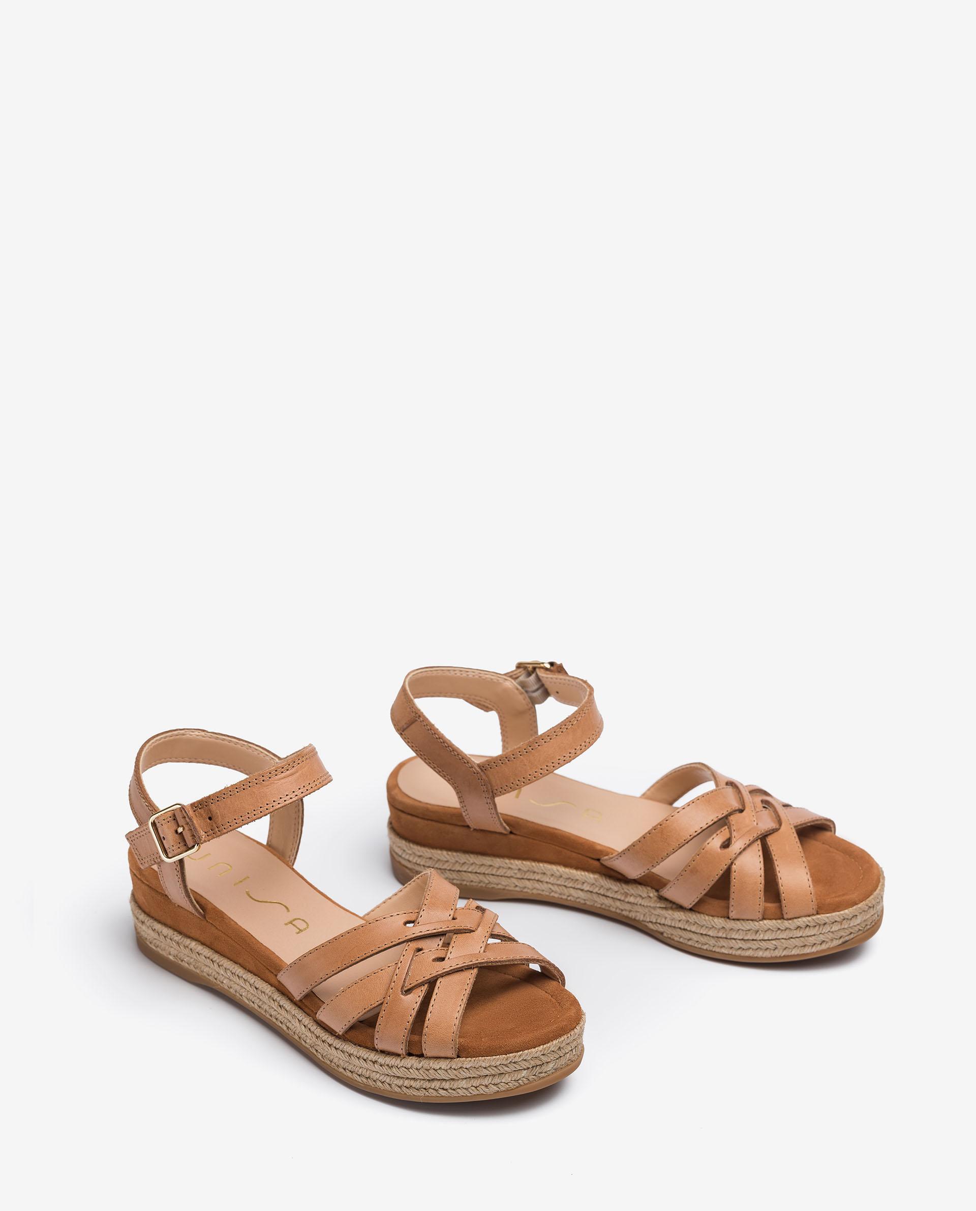 UNISA Contrast leather sandals GALDAR_RAN 2