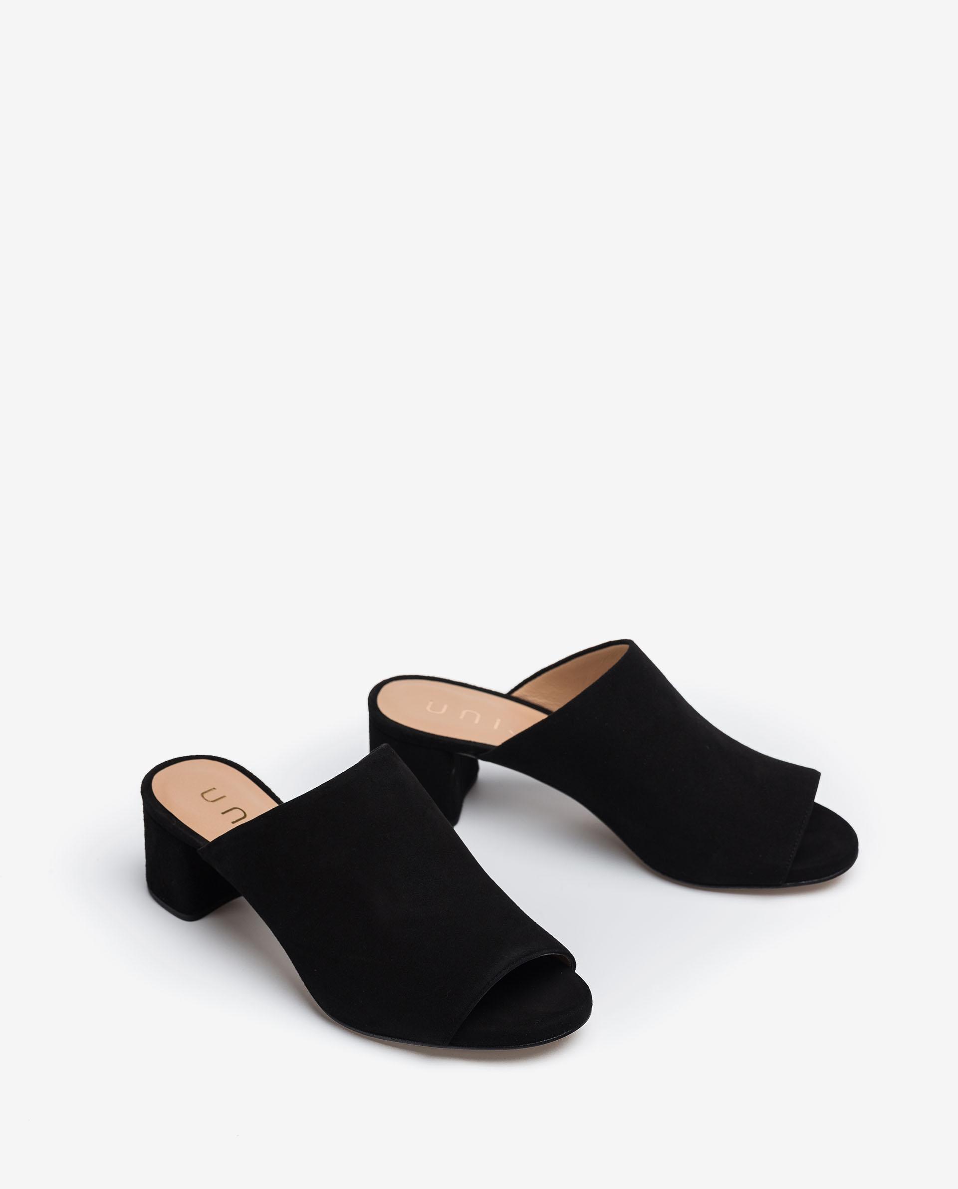 UNISA Kid suede mule sandals GALLUR_KS 2
