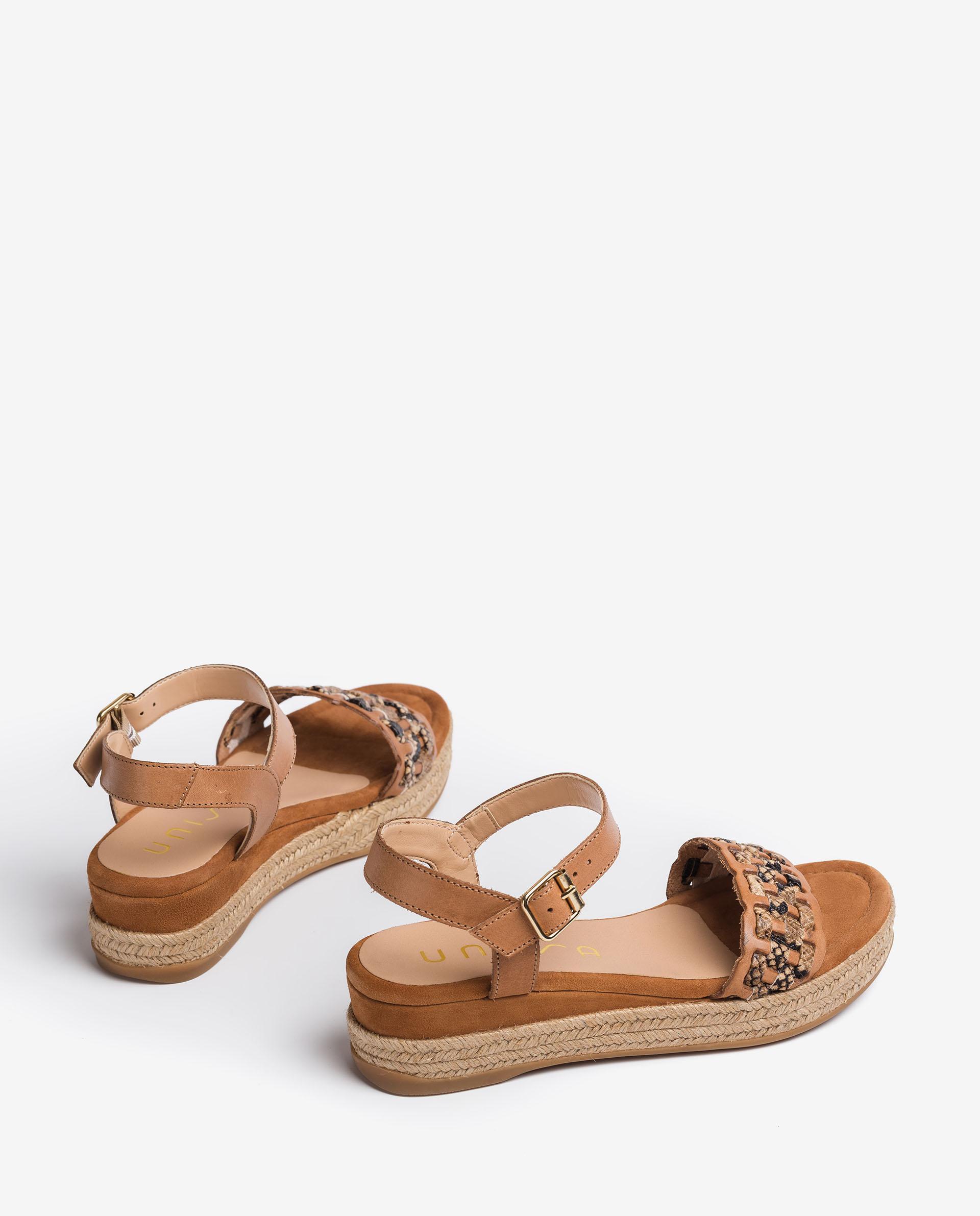 UNISA Braided contrast sandals GATIKA_RAN_VIP 2