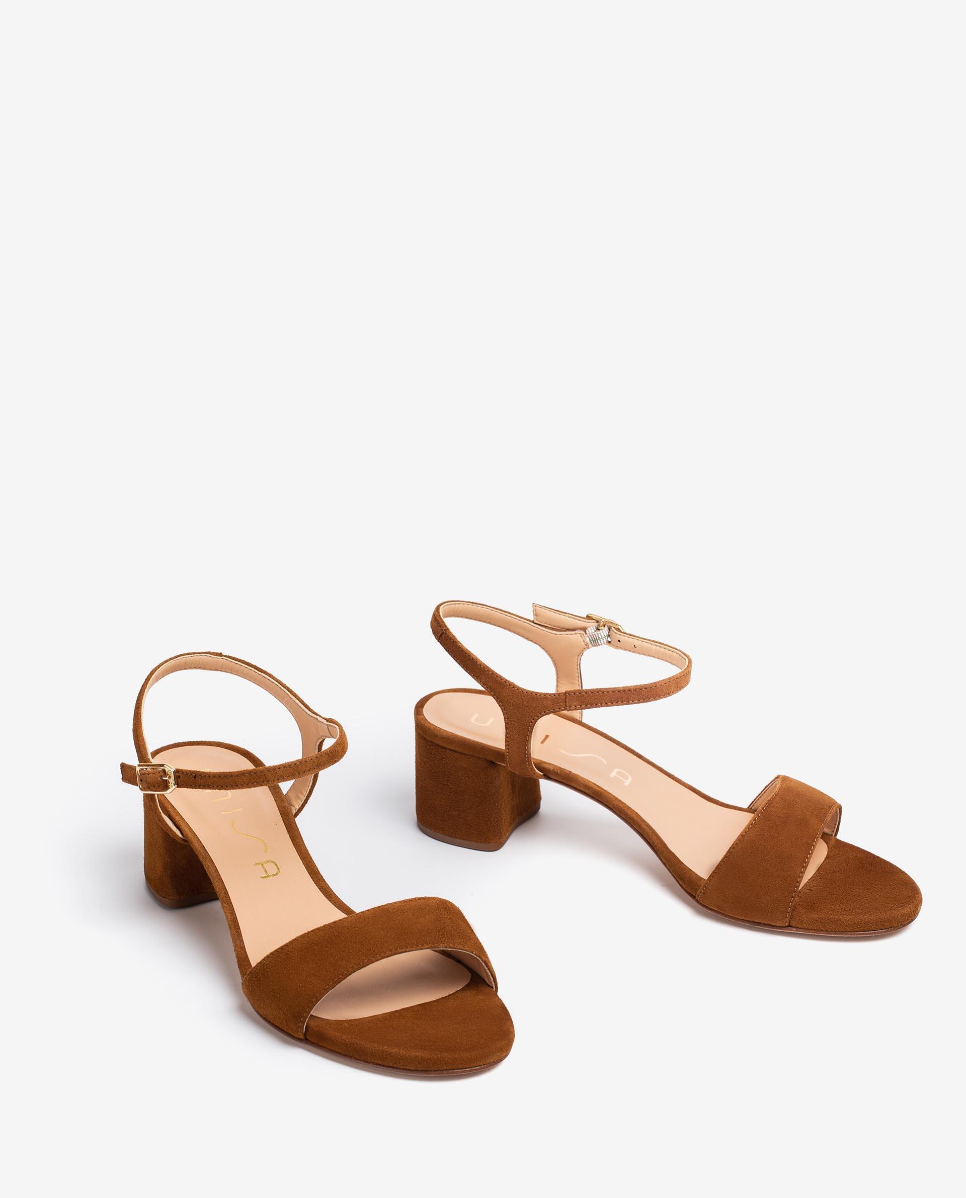 UNISA Kid suede sandals with wide heel GENTO_21_KS 2