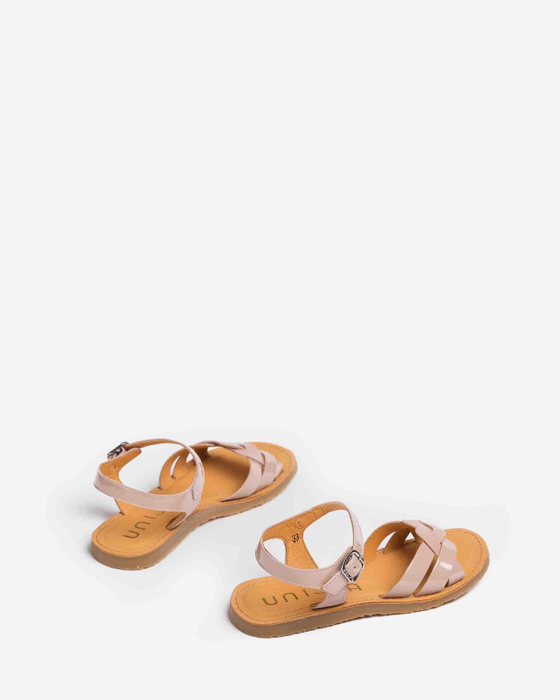 UNISA Little girl´s braided patent leather sandals GONZO_PA 2