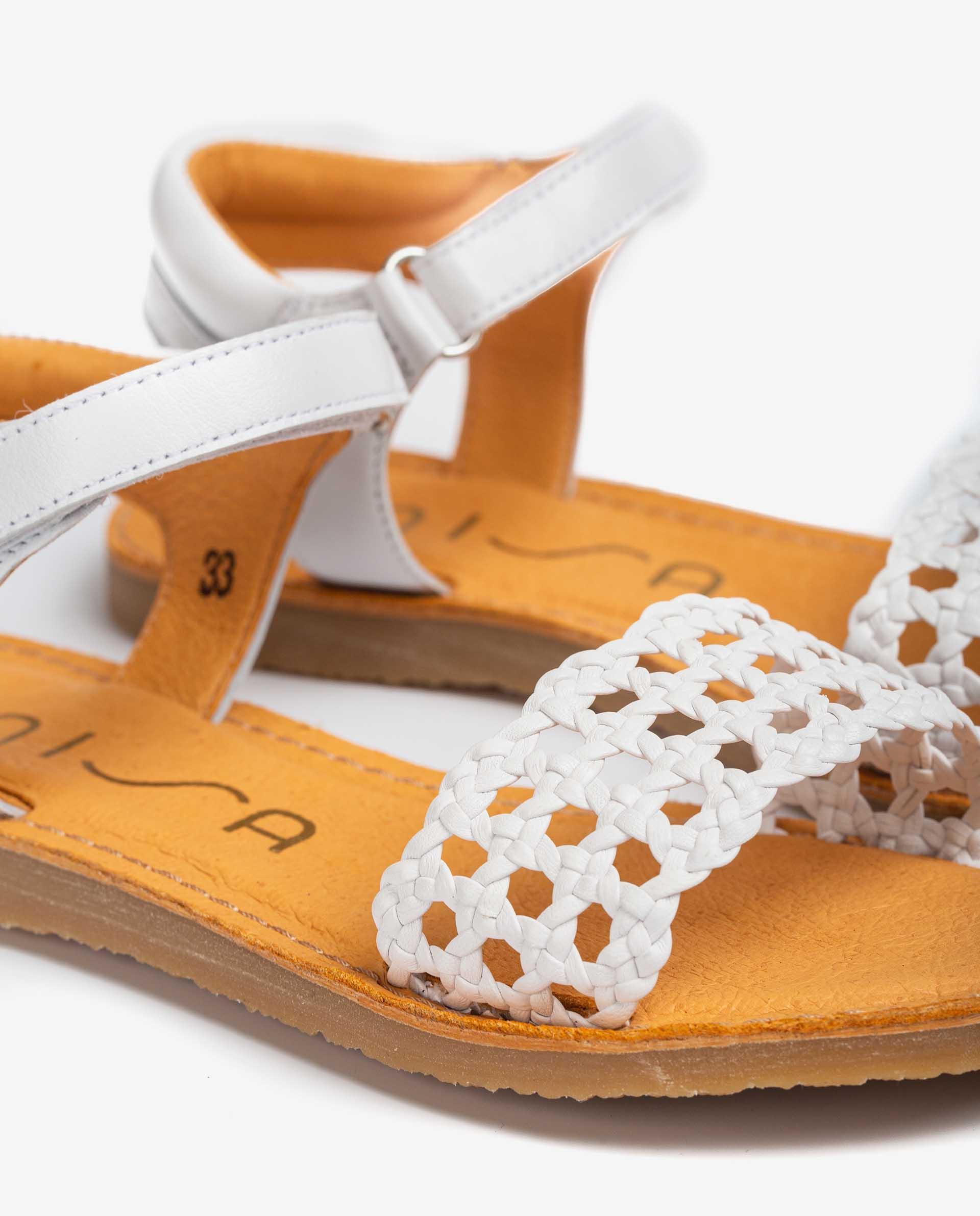 UNISA Little girl´s braided sandals  GREMY_NT 2