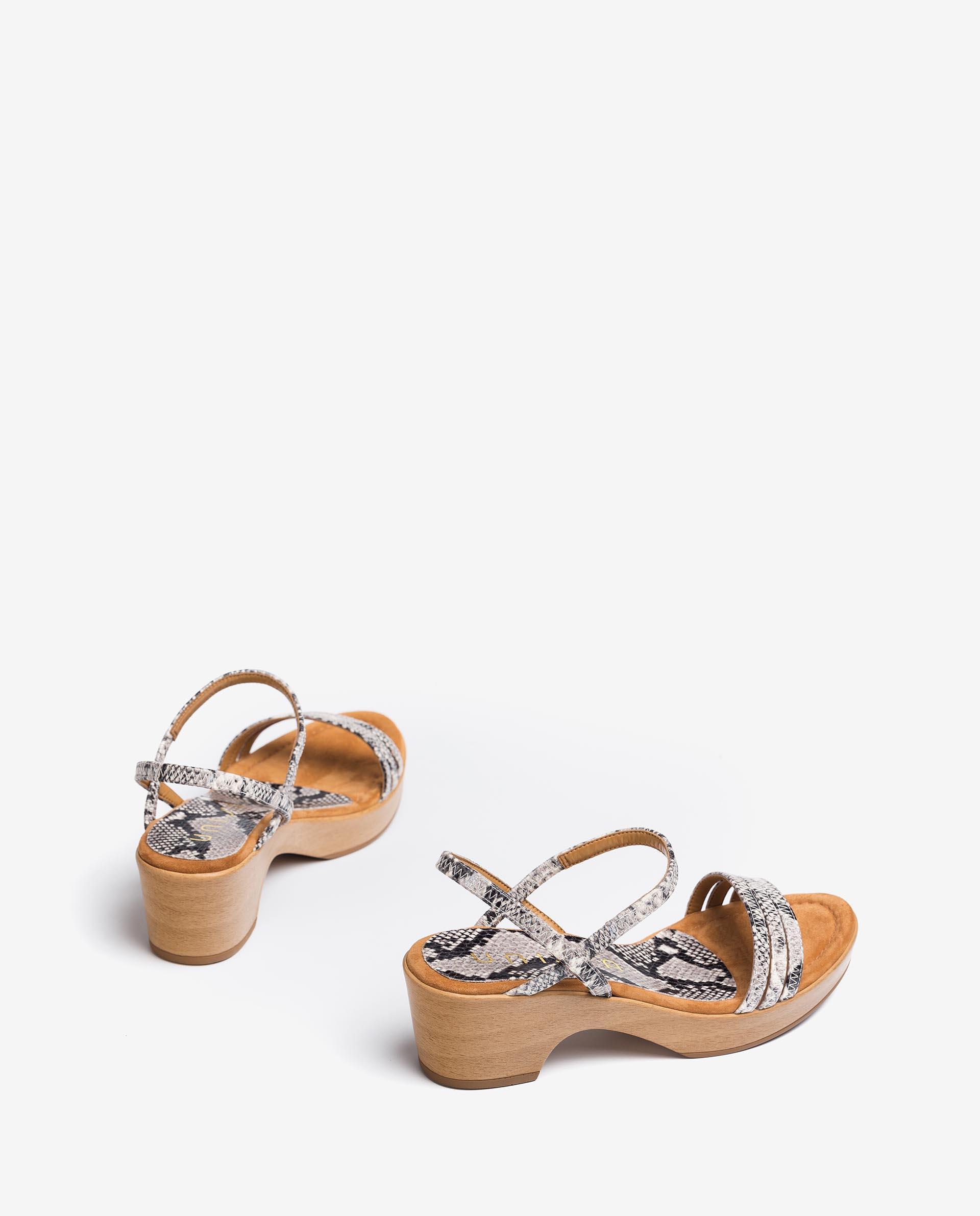 UNISA Metal effect leather sandals snake print IBRILLO_SNC 2