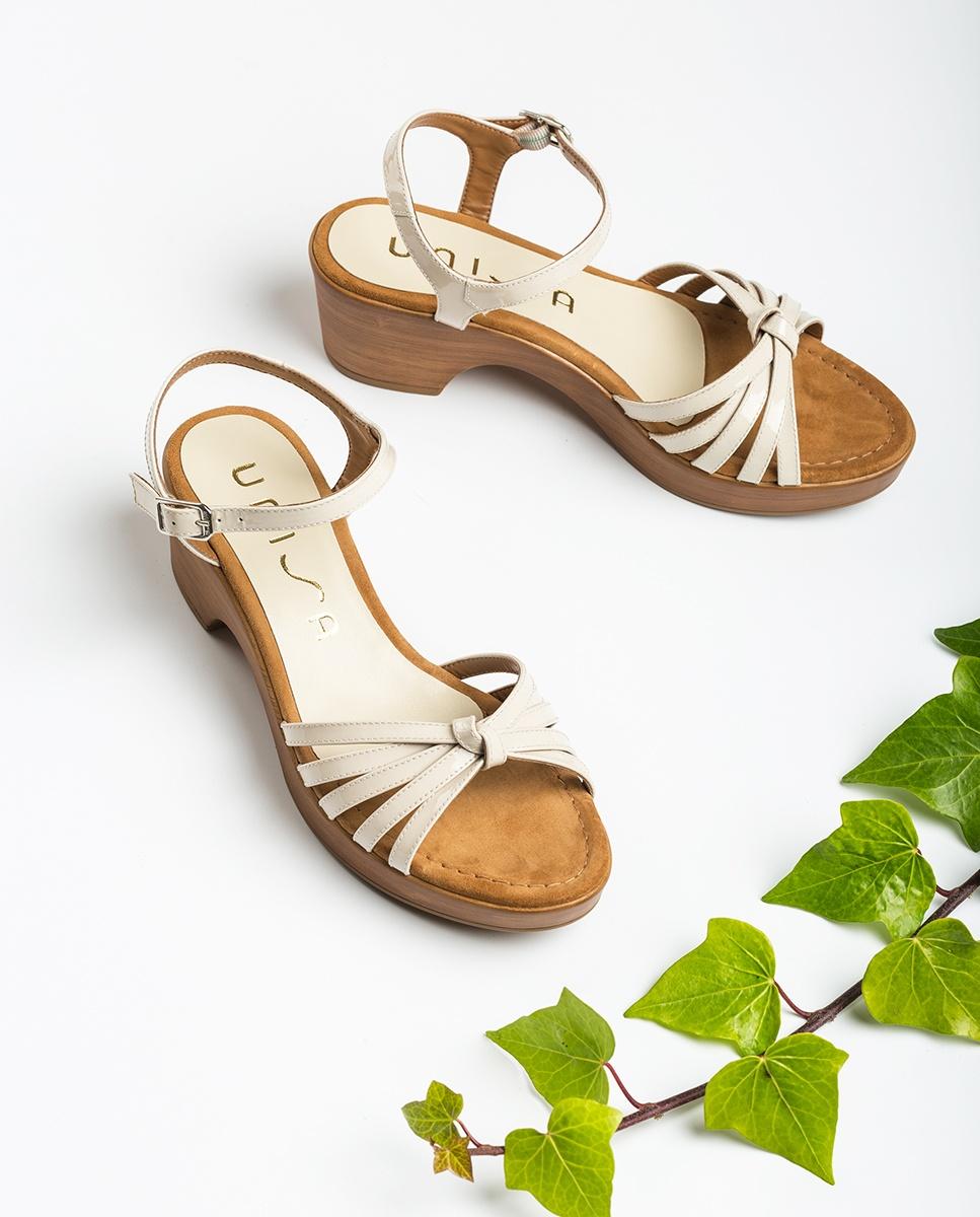 UNISA White multi-strap sandals IMMA_PA ivory 2