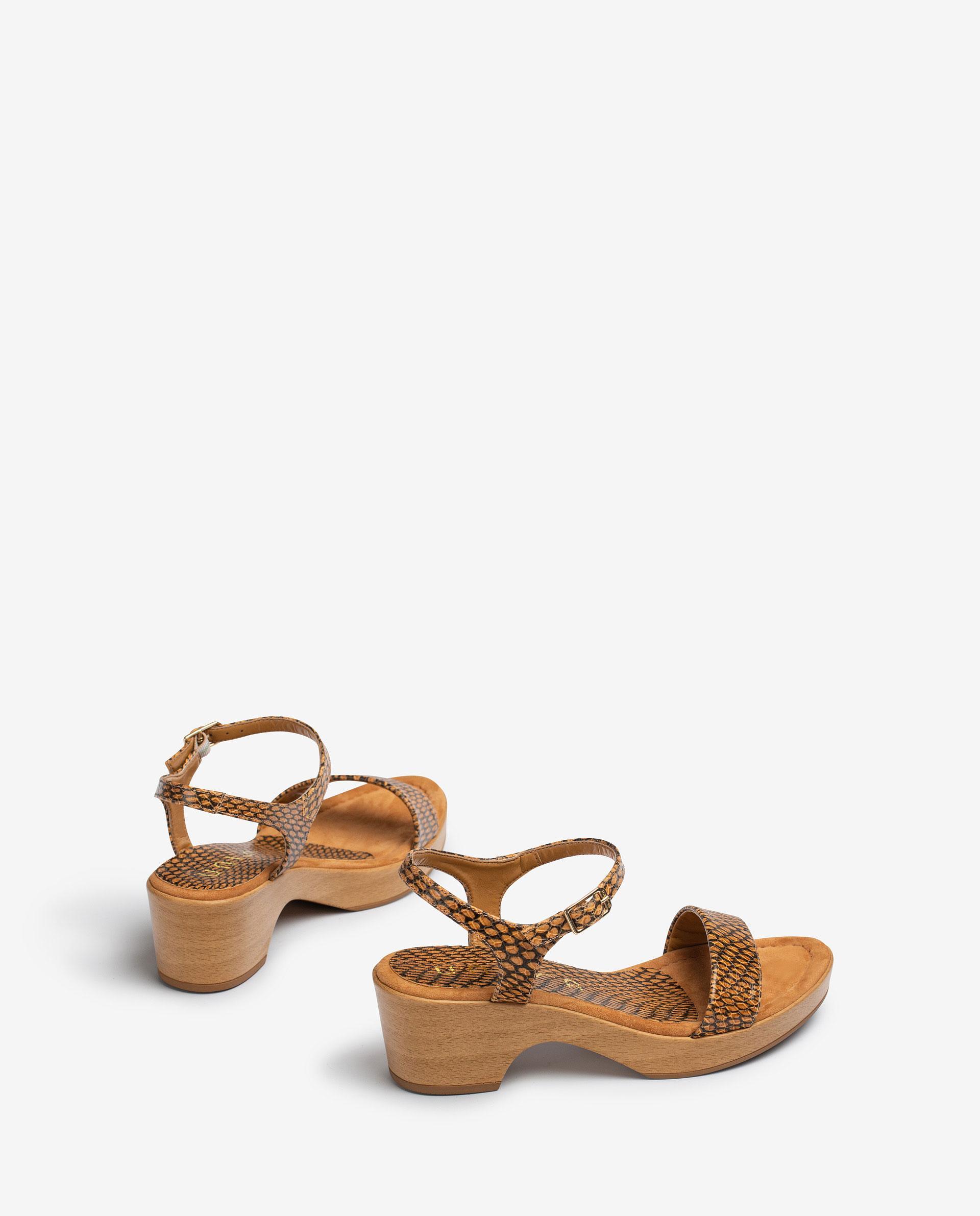 UNISA Snake effect block sandals IRITA_21_MA 2