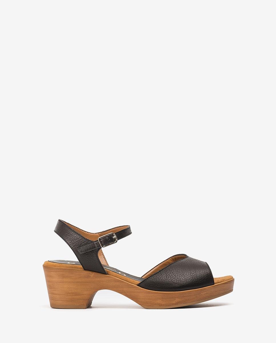 UNISA Leather block sandals ITACA_STY black 2