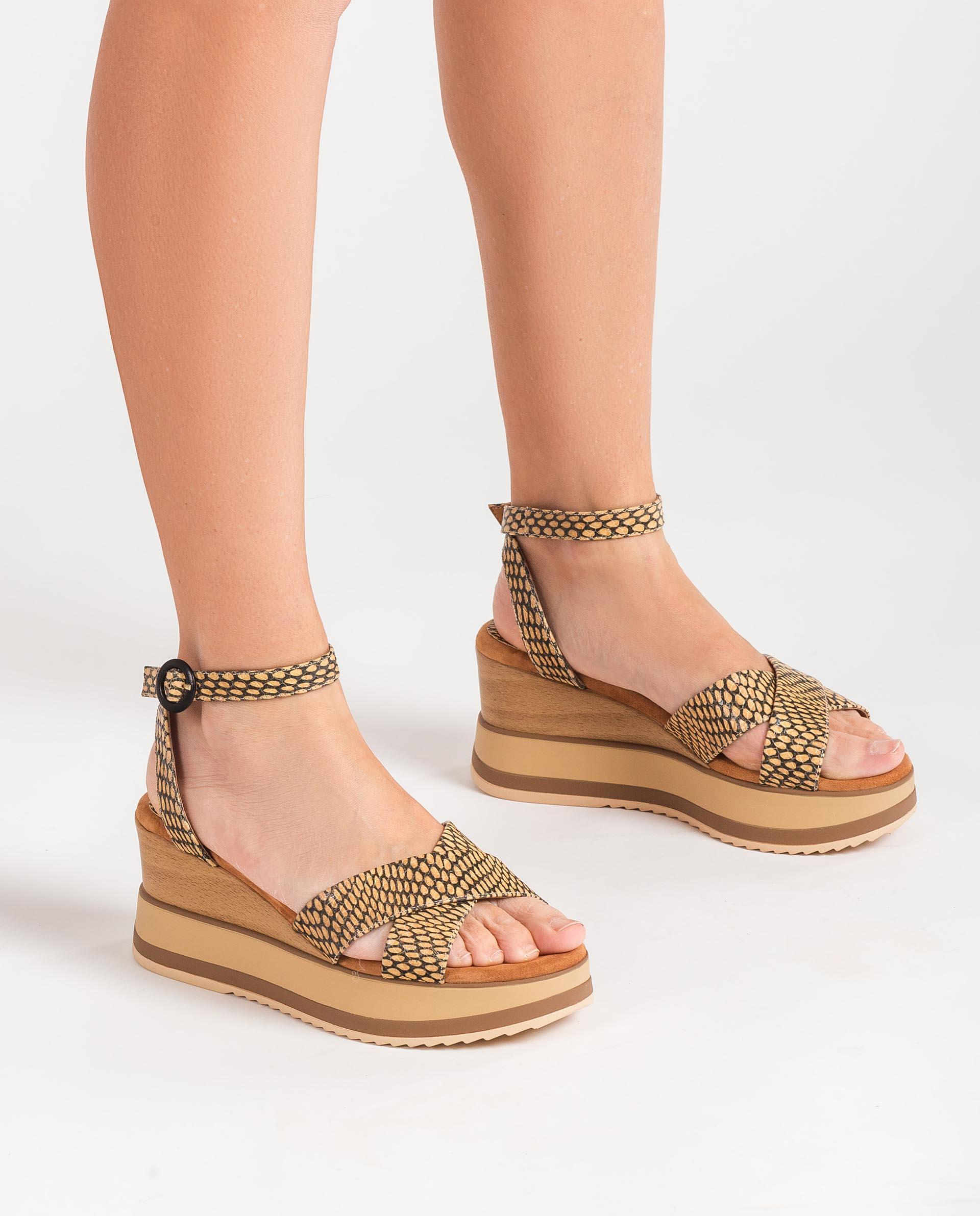 UNISA Snake effect sandals with sport soles KADIO_MA 2