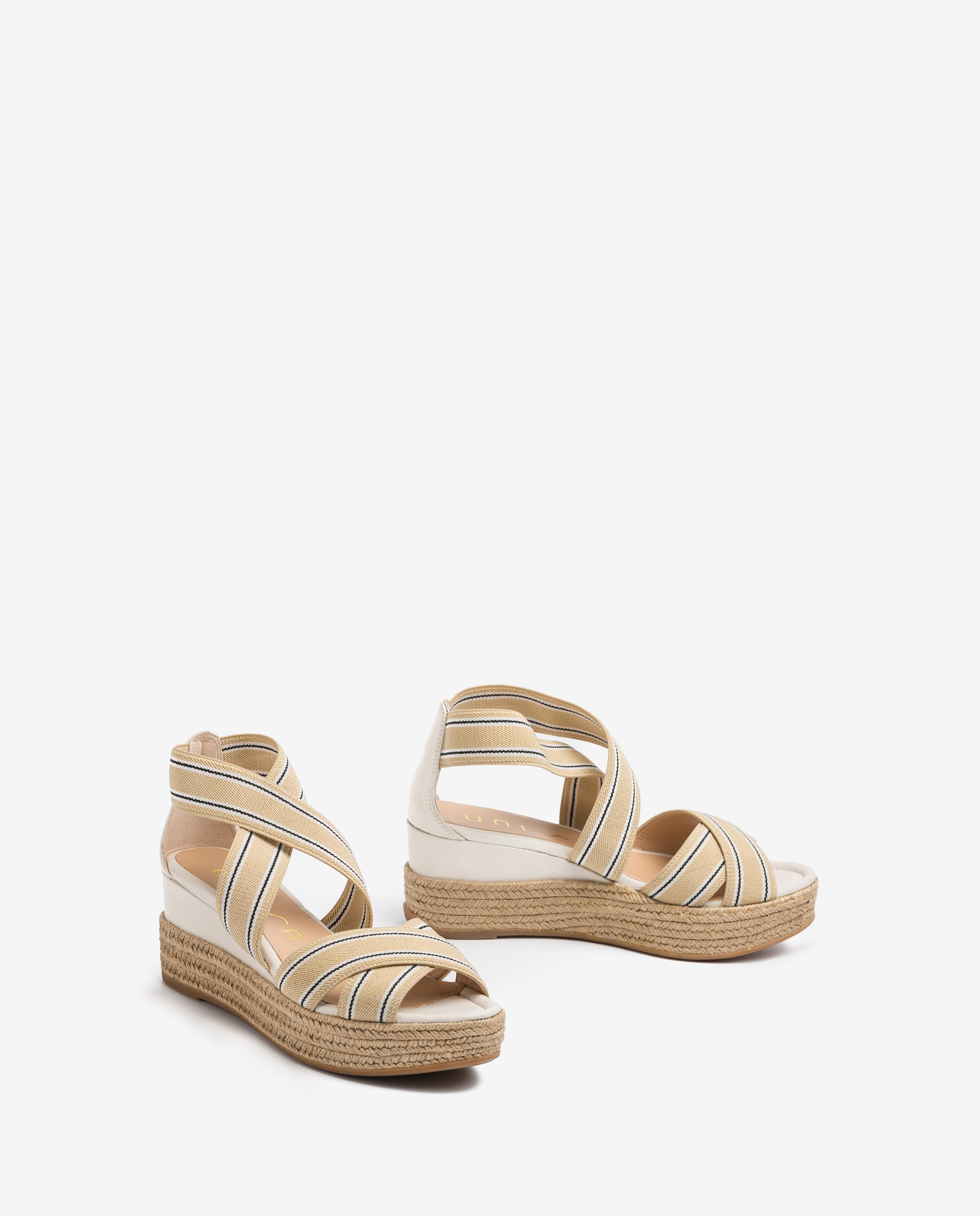 UNISA Striped straps sandals KADUR_CAN ivory 2