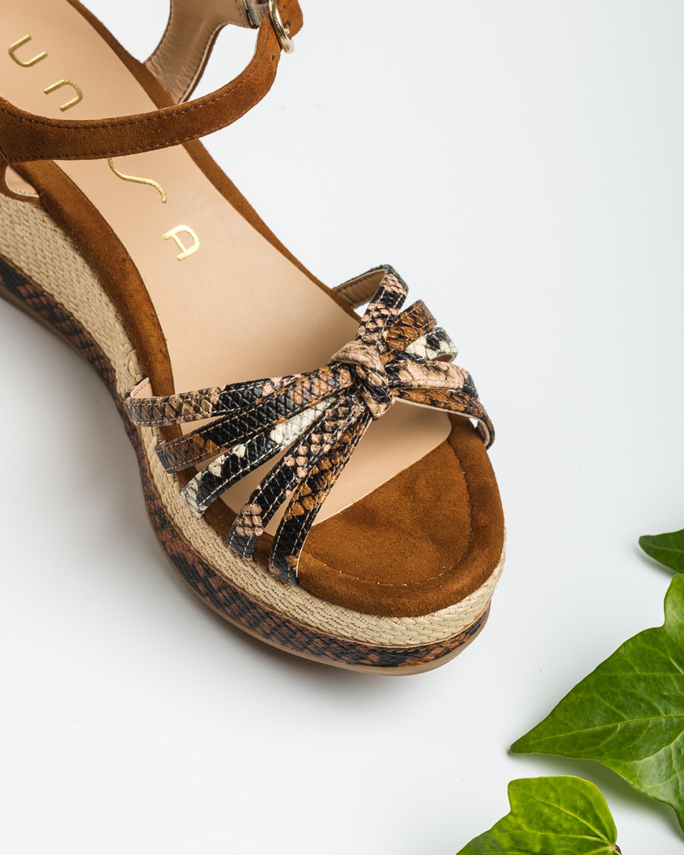 UNISA Snake sandals knot KIO_VIP_KS tek/sun/na 2