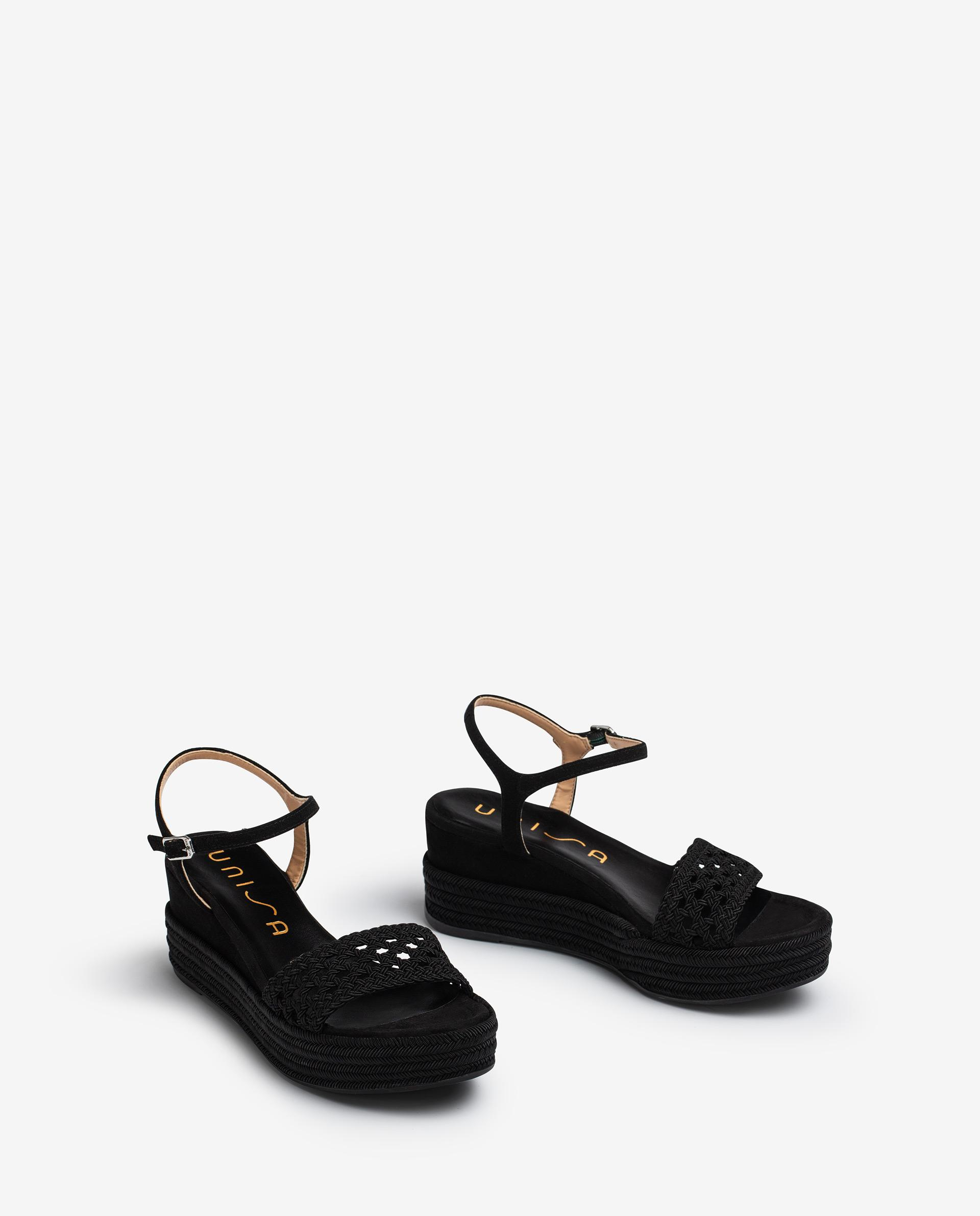 UNISA Wedge sandals braided fabric KISOME_21_KS 2