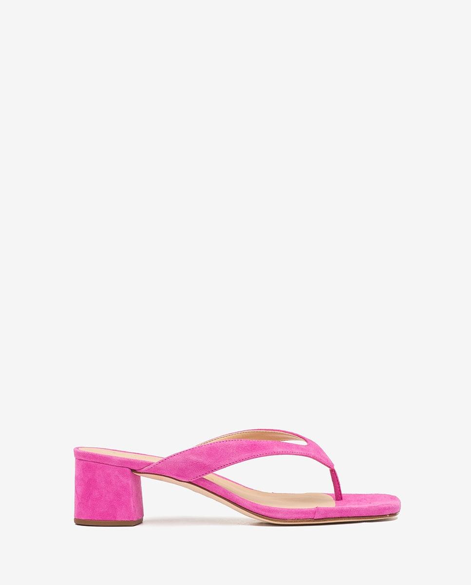 UNISA Fuchsia heeled thong sandals KOLMA_KS fuchia 2