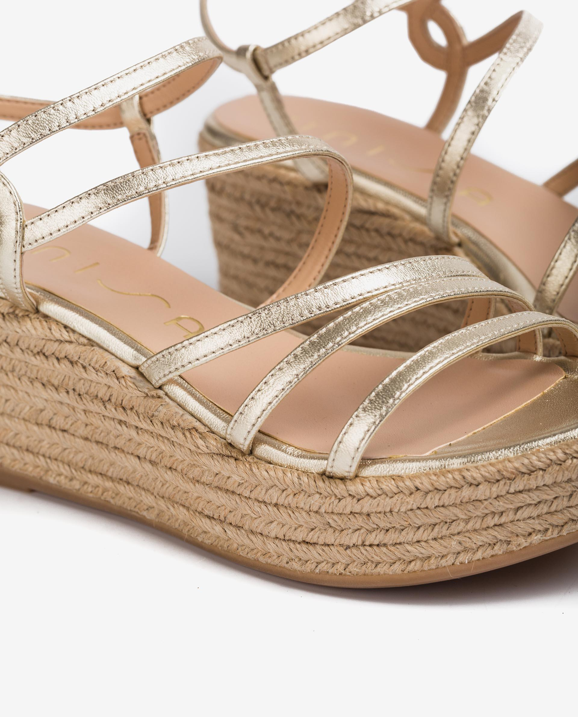 UNISA Thin straps metal effect leather sandals KYMO_LMT 2