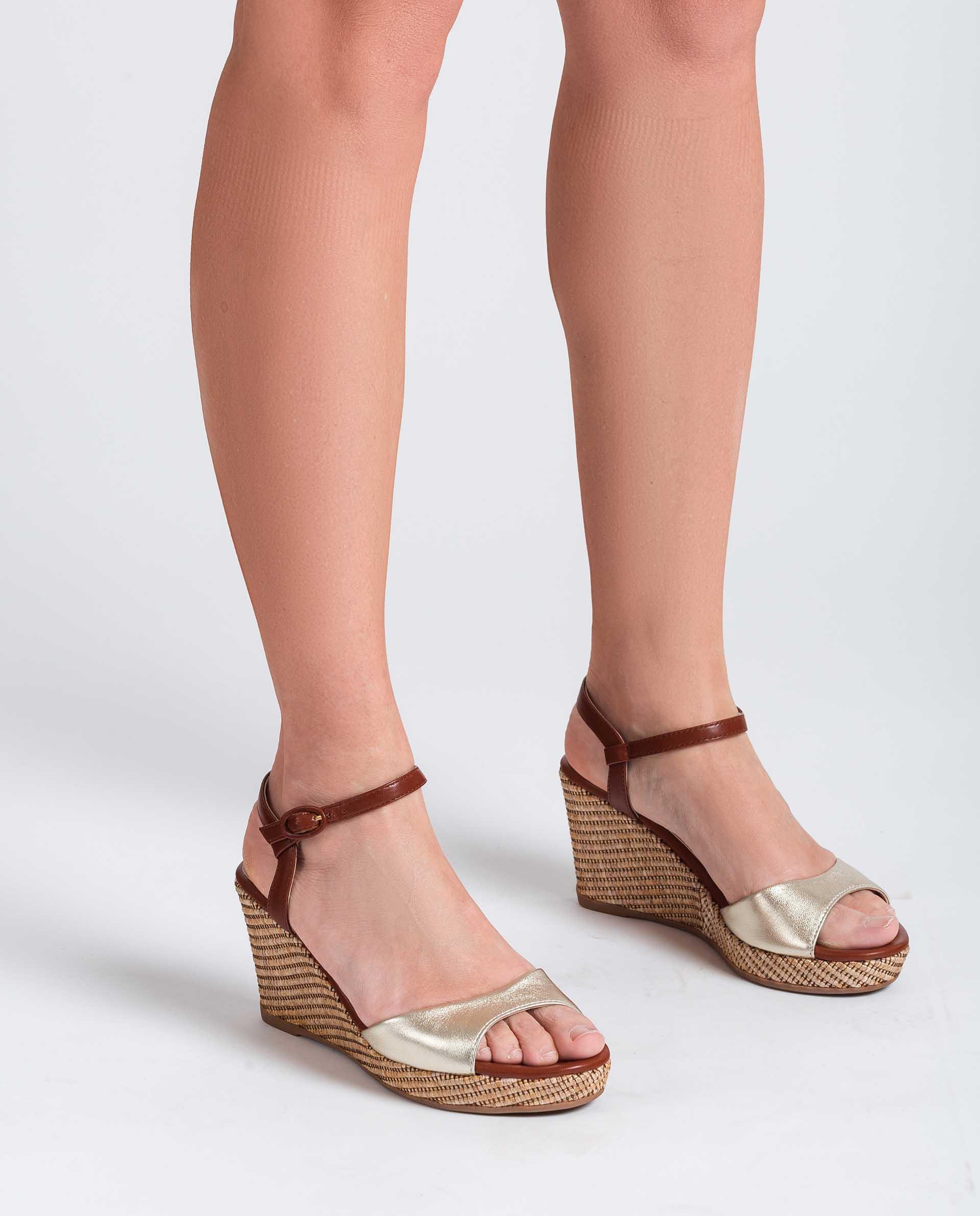 UNISA Contrast wedge sandals LAGATA_LMT_NA 2