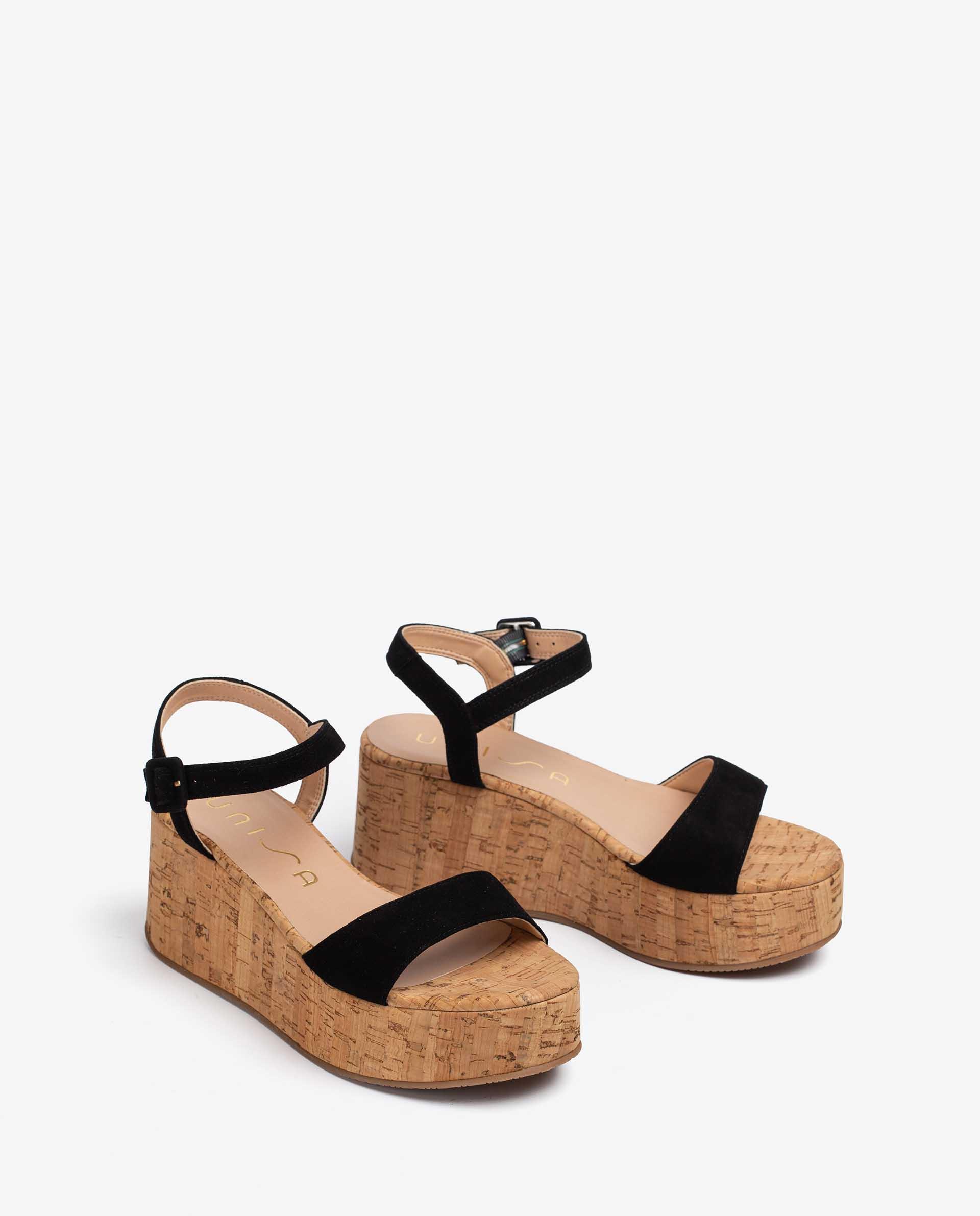 UNISA Kid suede sandals in assorted colours LAIKICO_KS 2