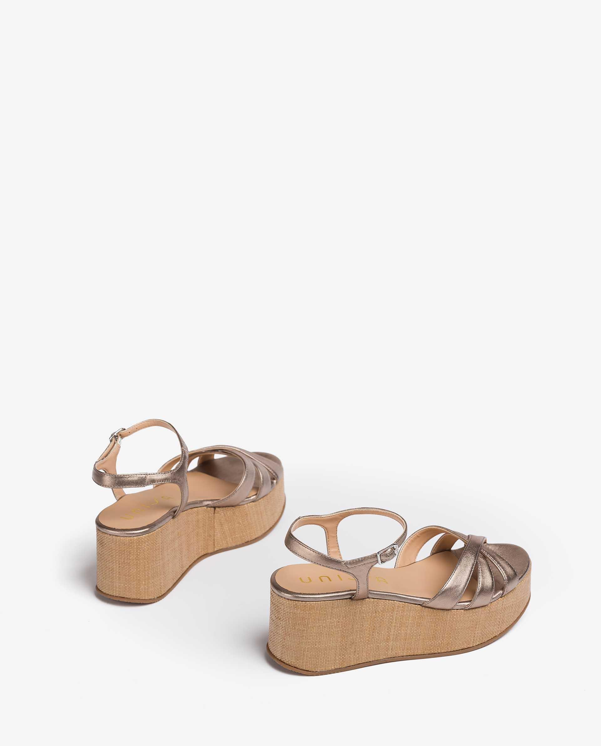 UNISA Wedge sandals with instep straps LAUKIZ_LMT 2