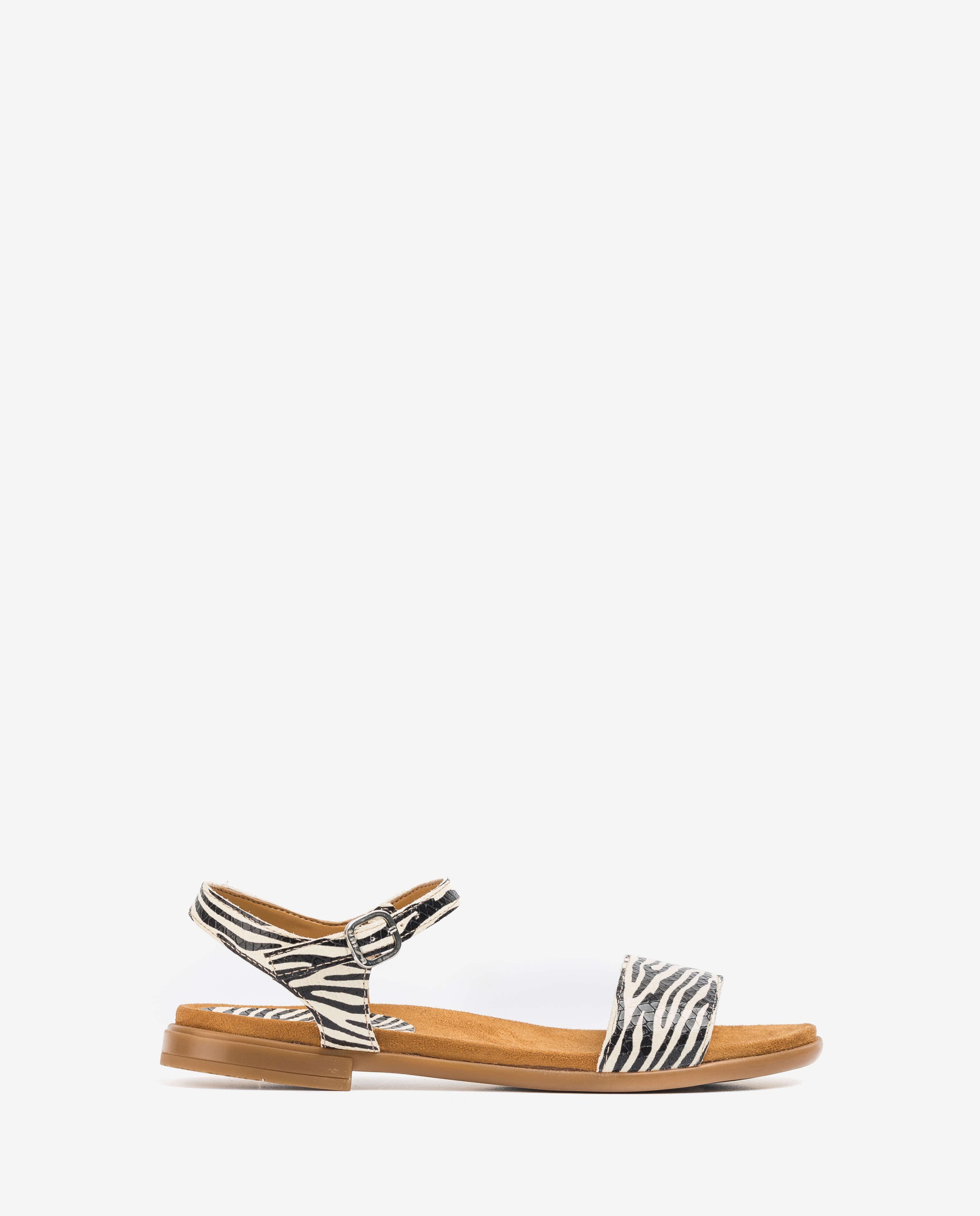 UNISA Little girl zebra sandals LIRITA_20_C_ZEB_CAN ivory 2