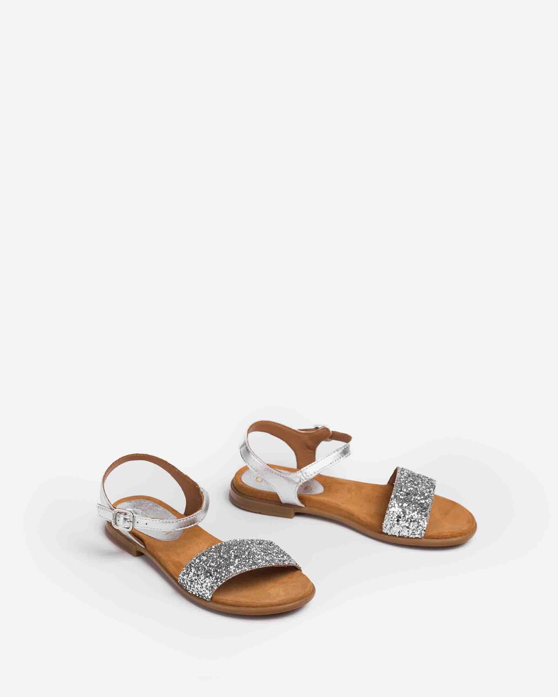UNISA Little girl´s sandals metallic contrast LIRITA_21_LMT_GL_CAN 2