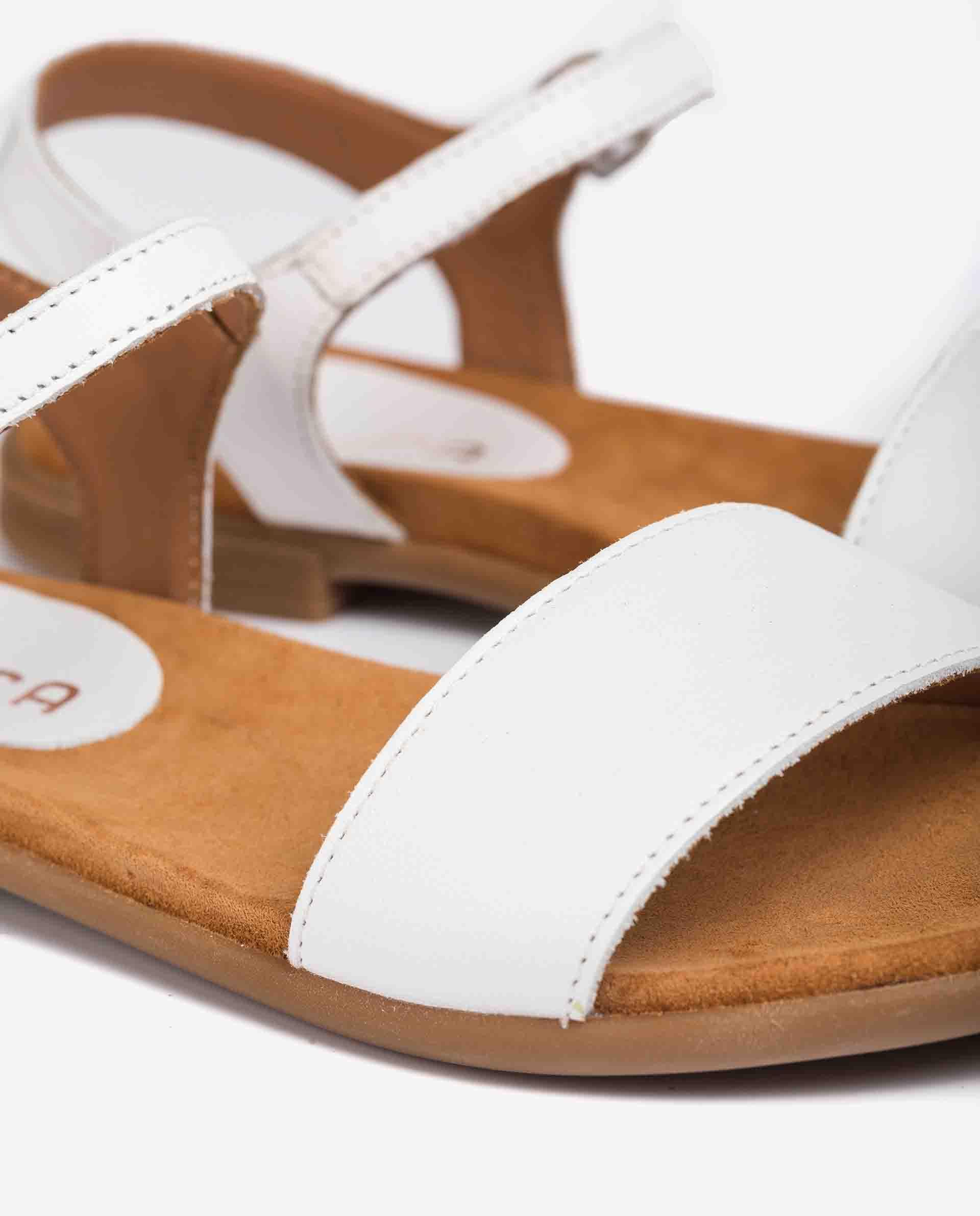 UNISA Little girl´s sandals fabric and leather contrast LIRITA_21_NT_CAN 2