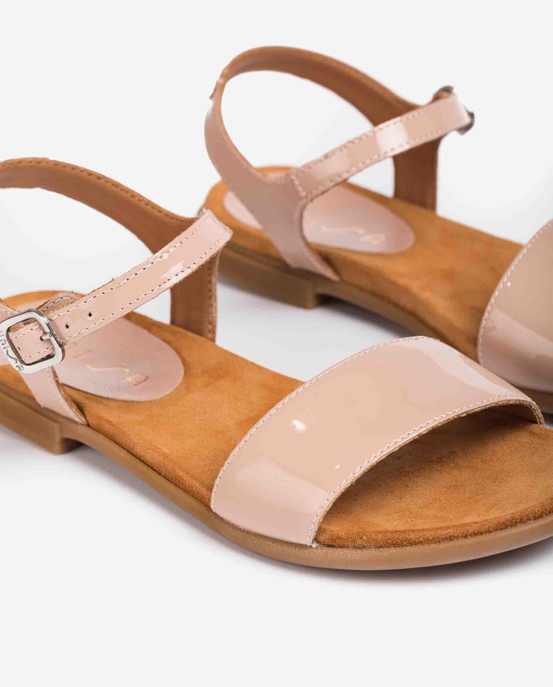 UNISA Little girl´s sandals fabric and patent leather contrast LIRITA_21_PA_CAN 2