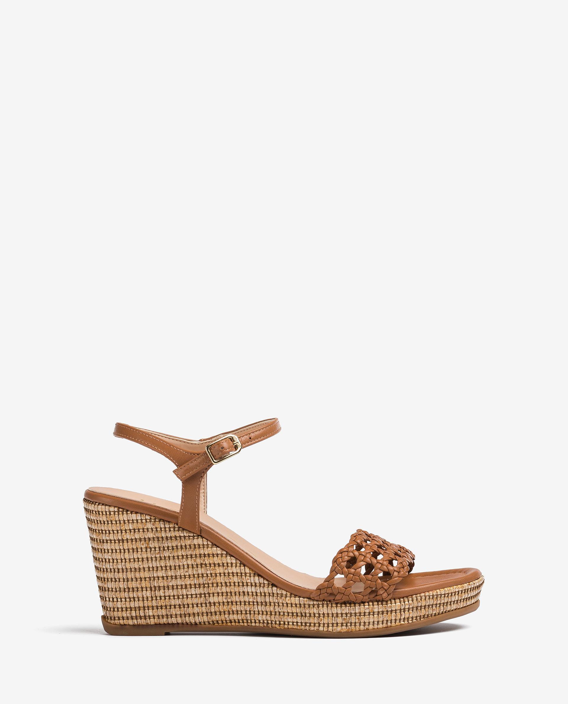 UNISA Braided leather macrame sandals LOBI_21_NA 2