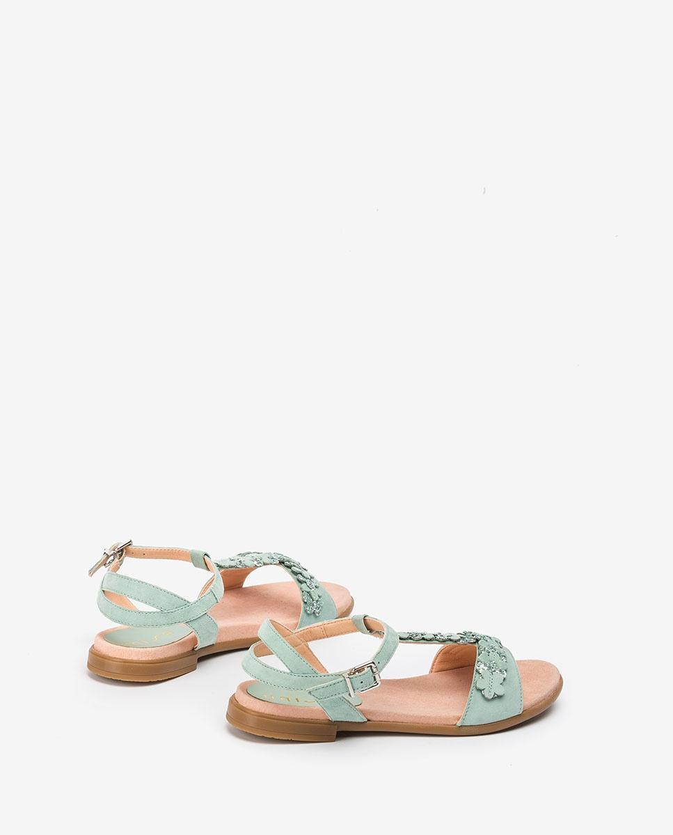 UNISA Little girl contrast flowers sandals LOSAN_C_KS mint 2
