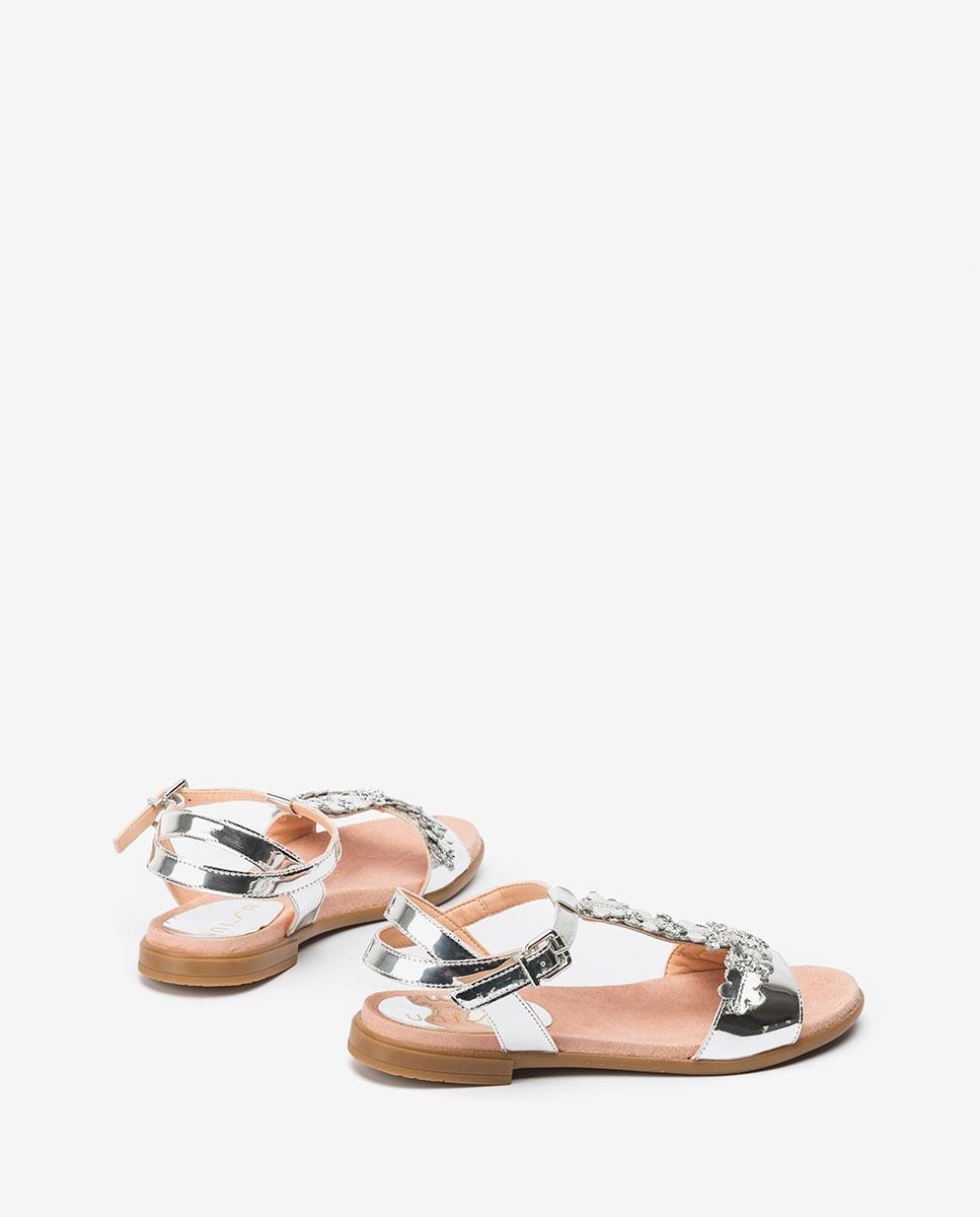 UNISA Little girl silver flowers sandals LOSAN_C_SP silver 2