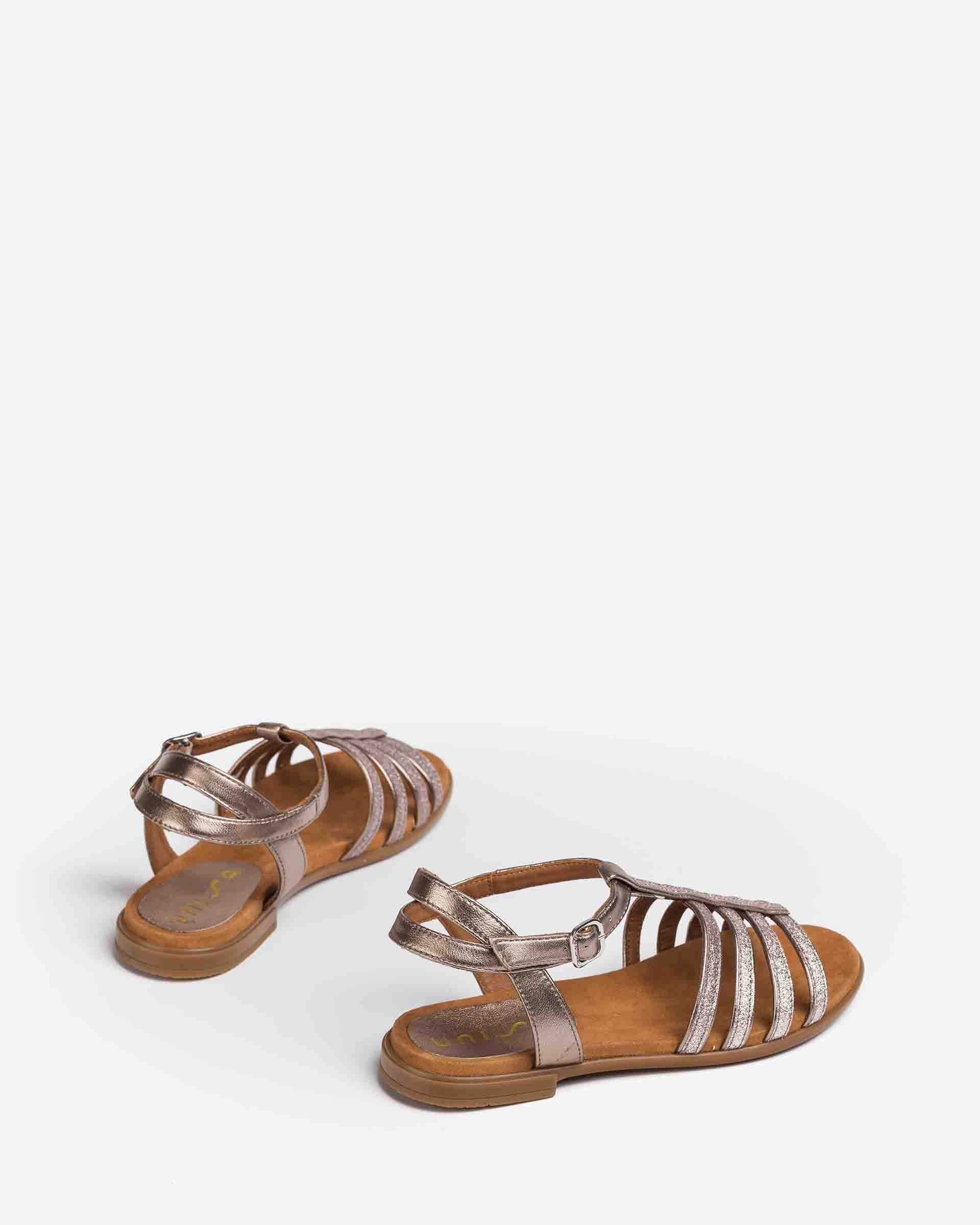 UNISA Little girl´s sandals metal effect straps LOTRE_21_LMT 2