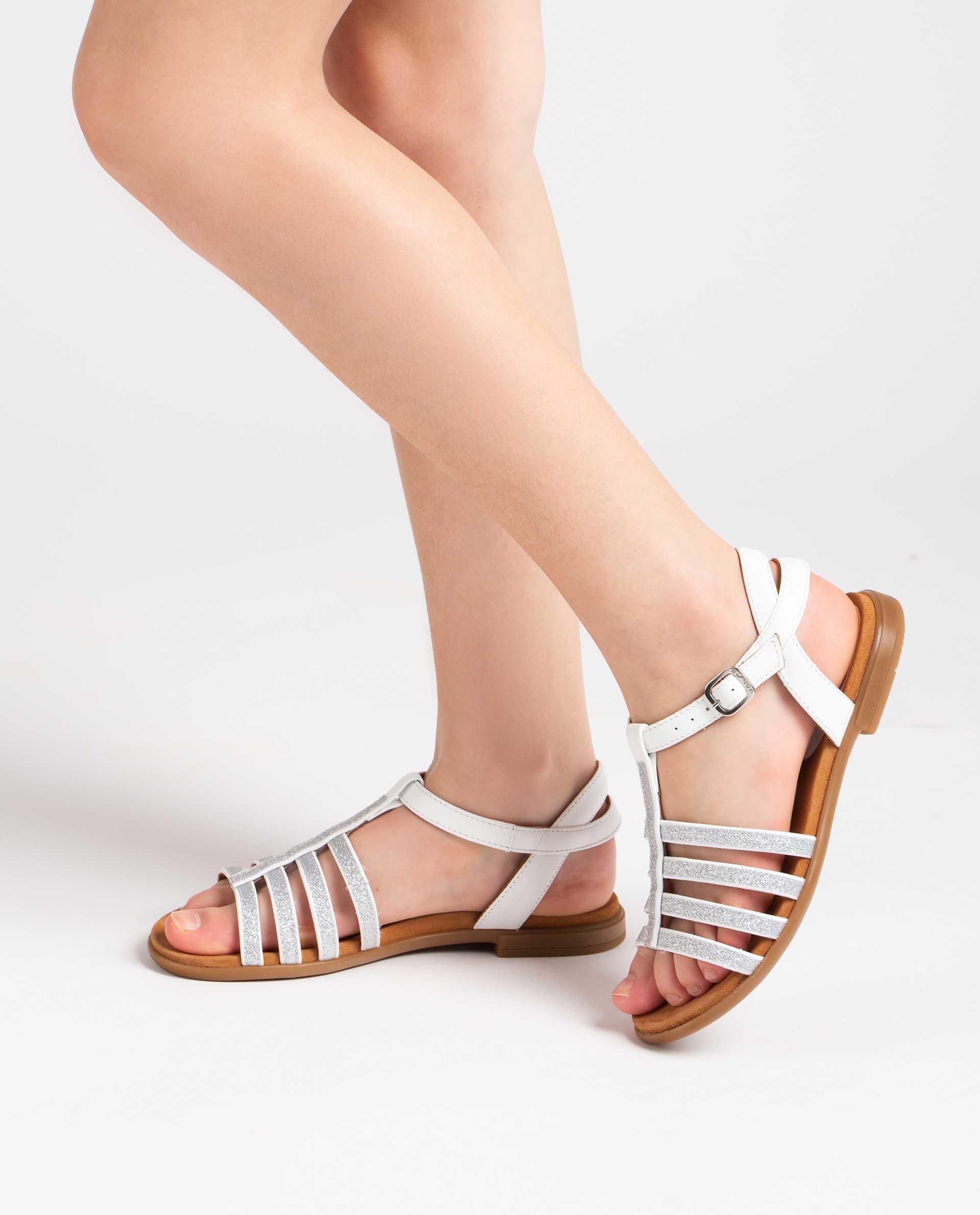 Unisa Sandals LOTRE_21_NT white/silv