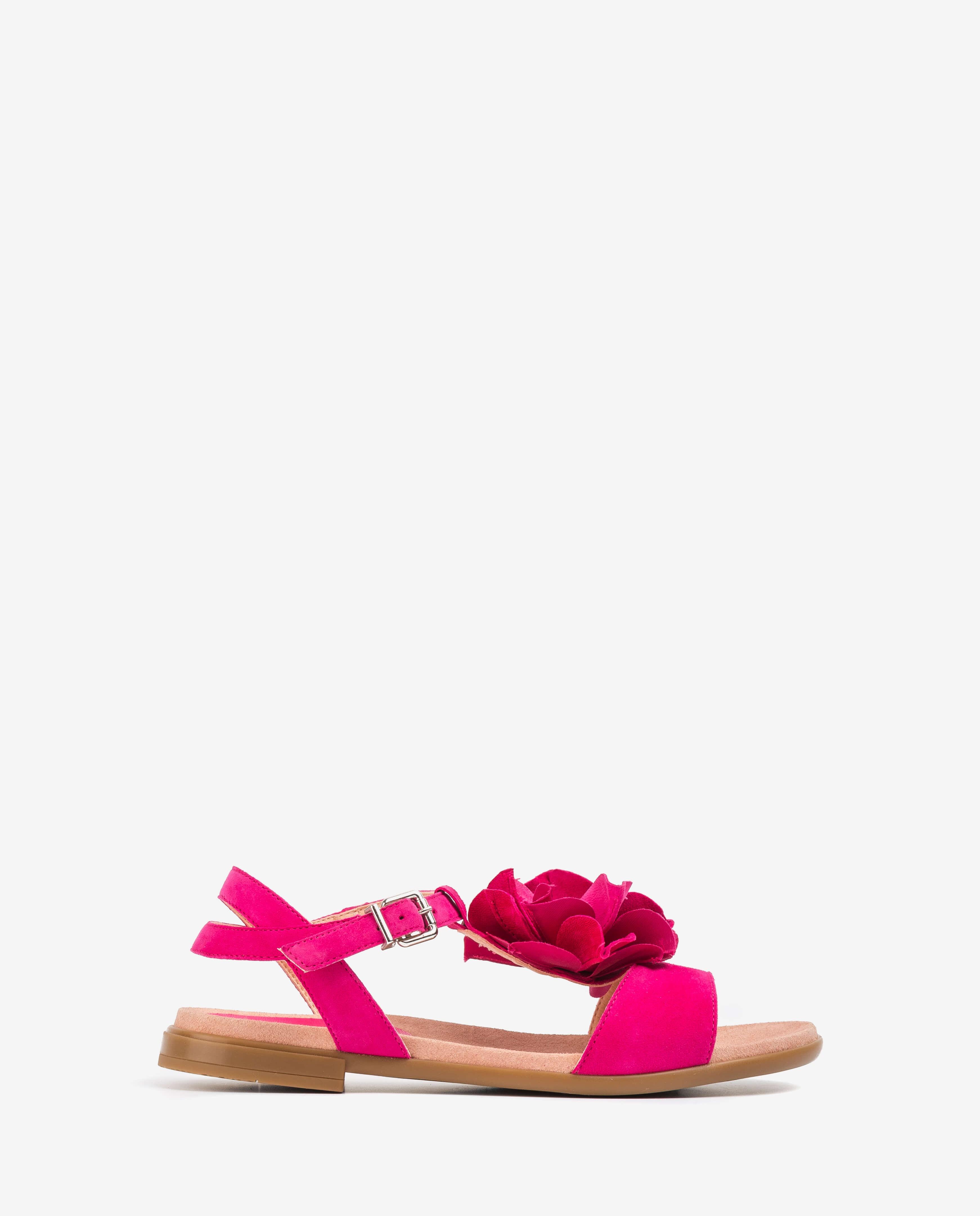 UNISA Little girl fucsia flowers sandals LUCK_C_KS fresia 2