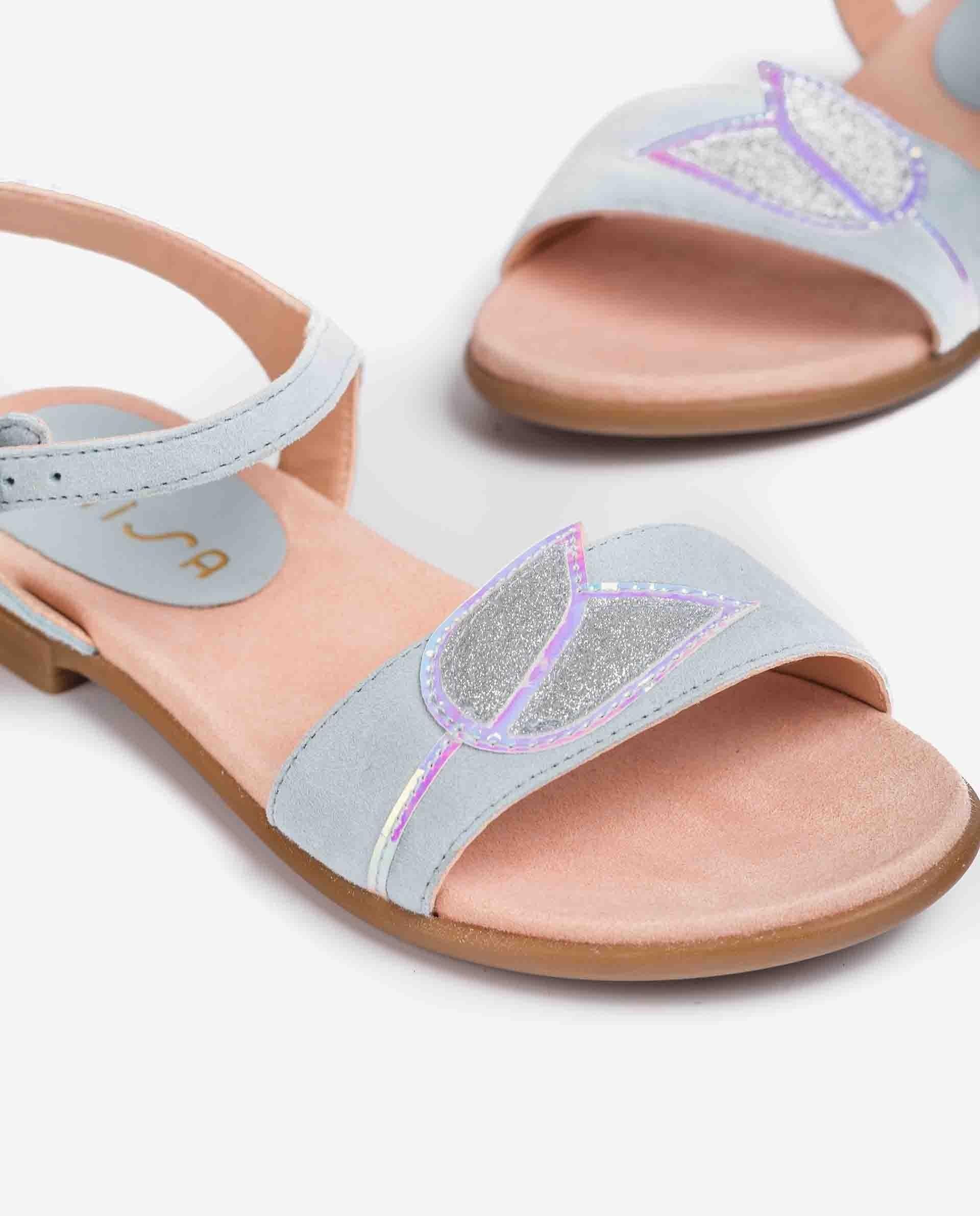 UNISA Little girl´s kid suede sandals flower LUTFI_KS 2