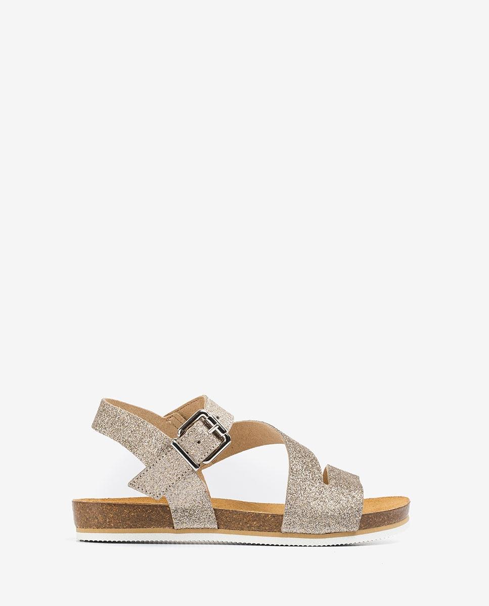 UNISA Little girl metal effect bio sandals MAKENA_BRI mumm 2