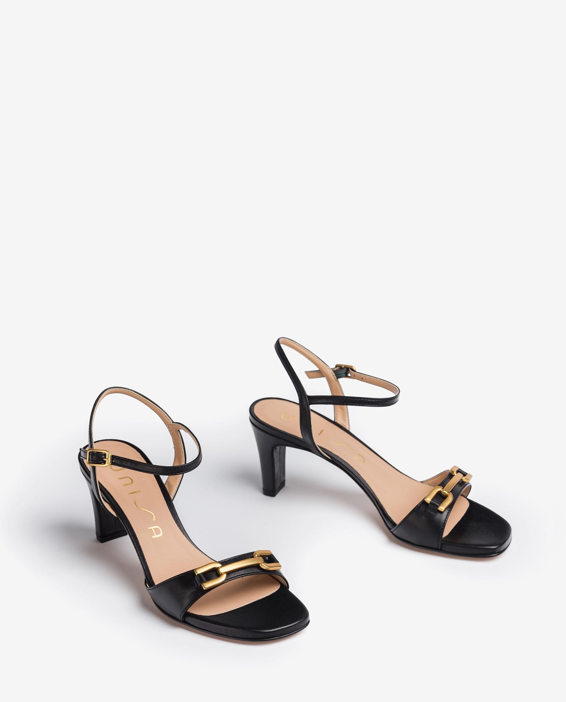 UNISA Medium heel leather sandals MASARA_NA 2