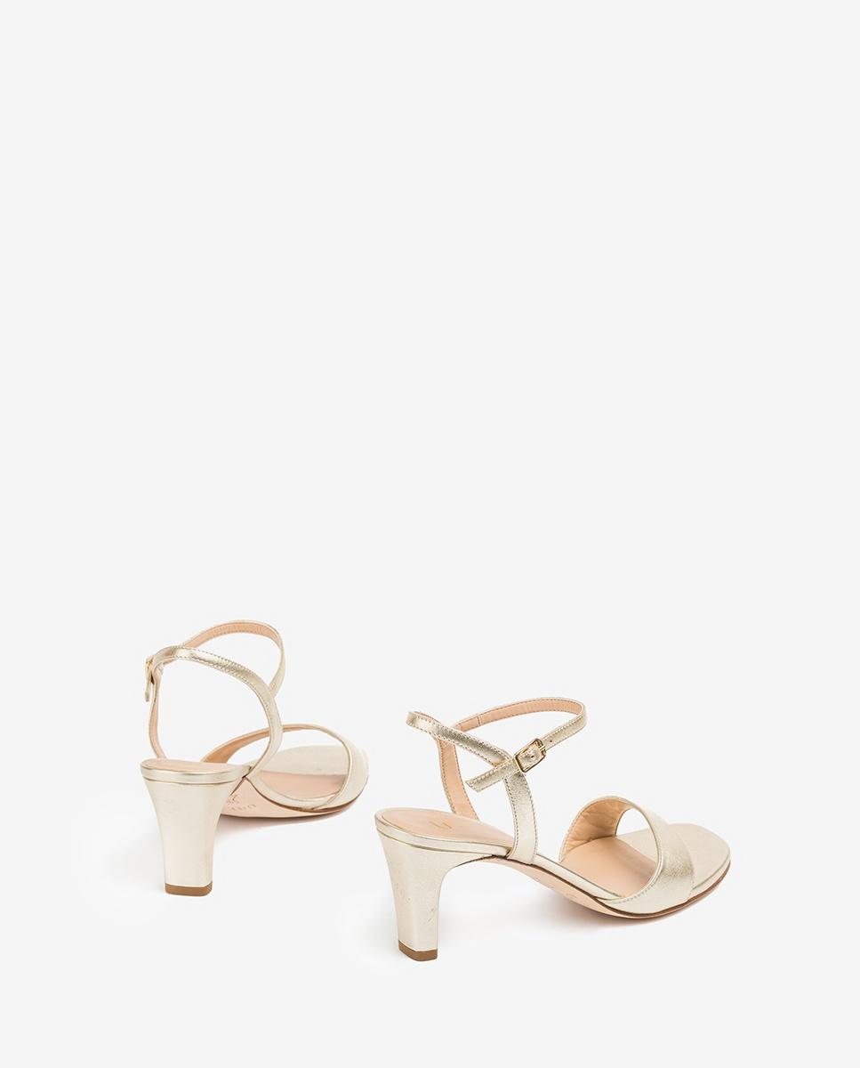UNISA Light gold sandals medium heel MECHI_LMT platino 2