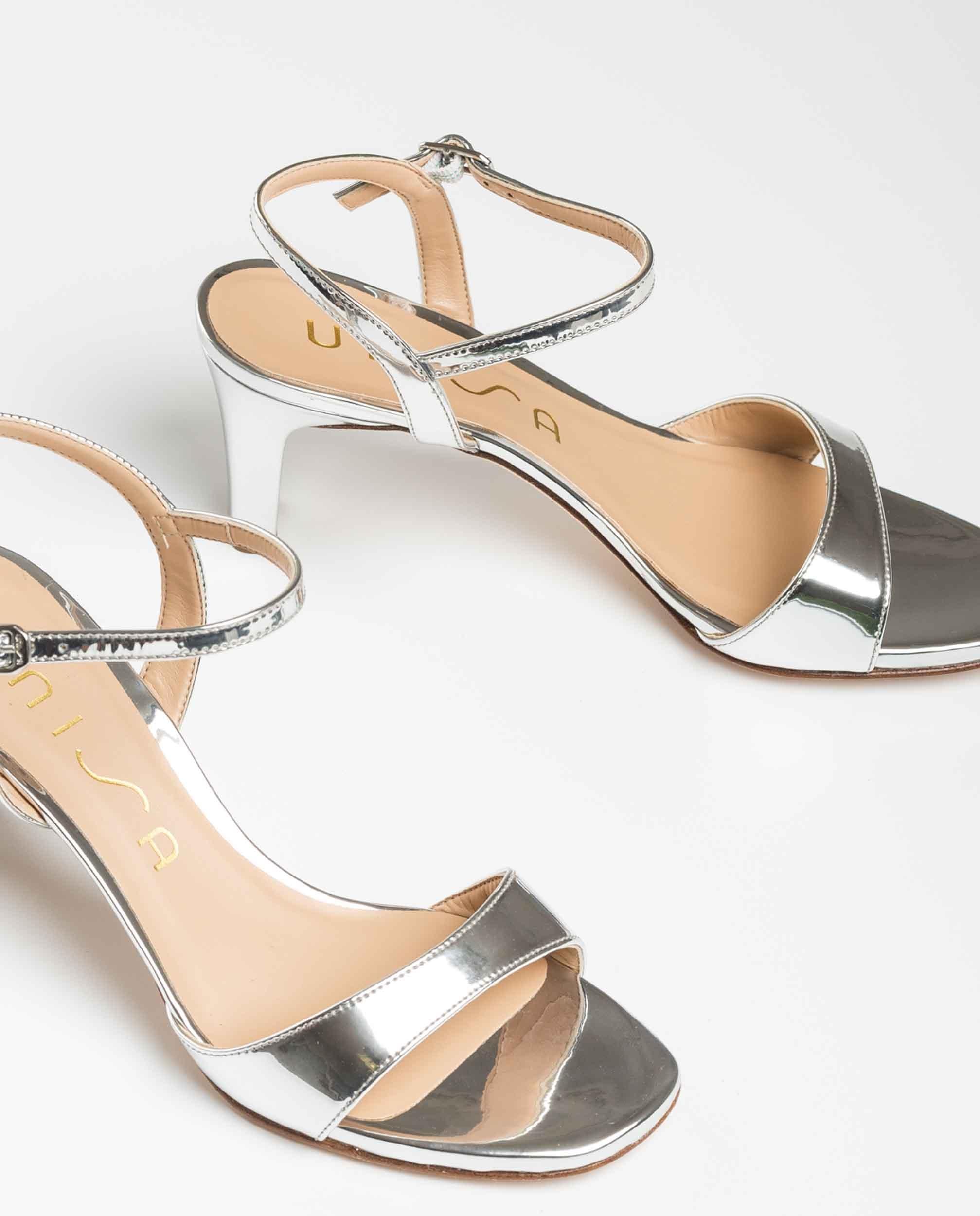 UNISA Silver sandals medium heel MECHI_SP silver 2