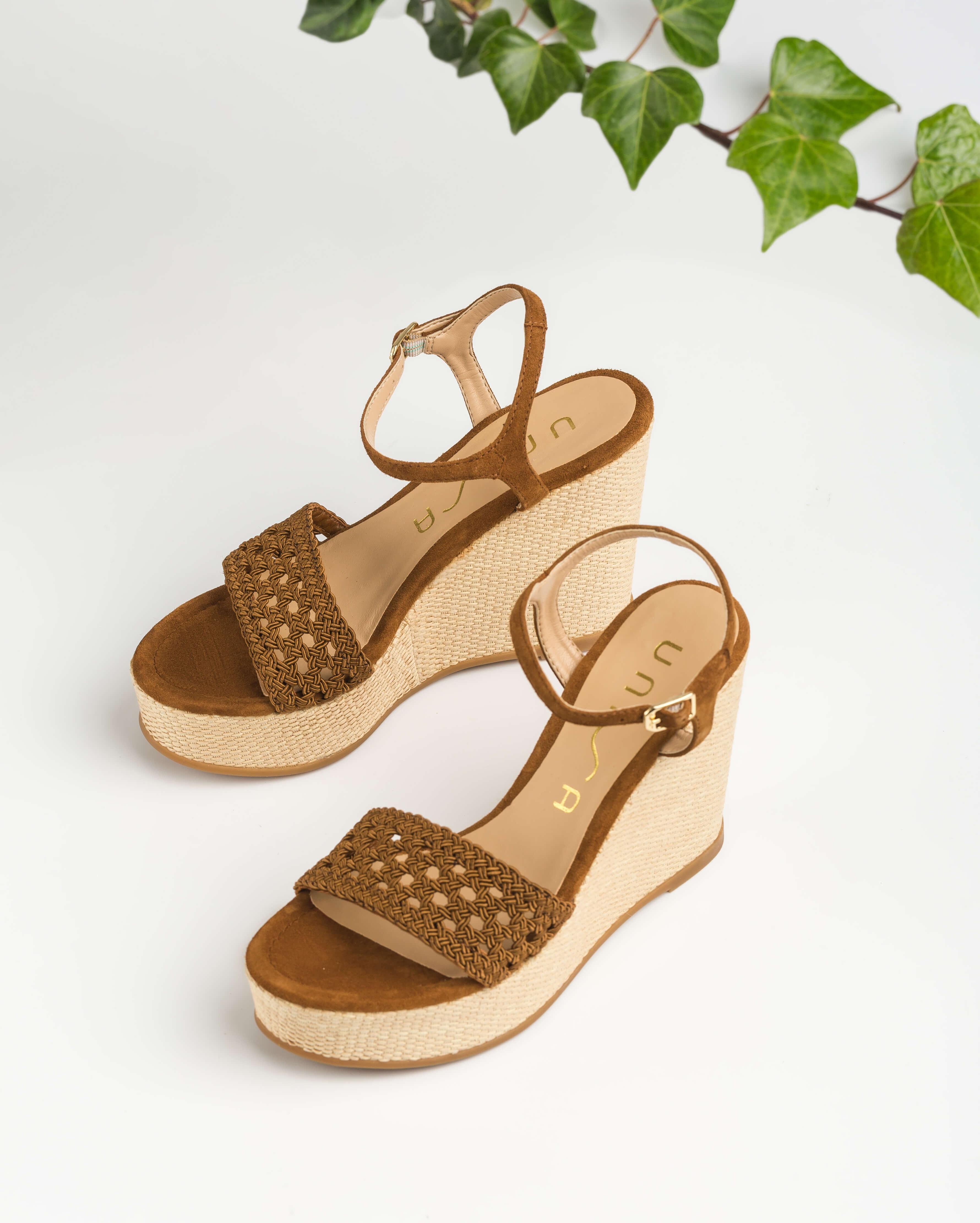 UNISA Wedge macramé sandals MISA_KS argan 2