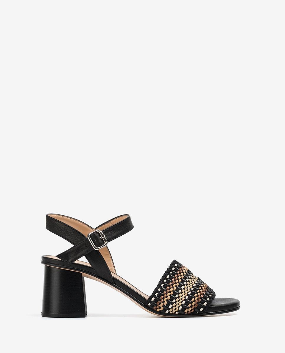 UNISA Braids heel sandals MOLLA_STY black 2