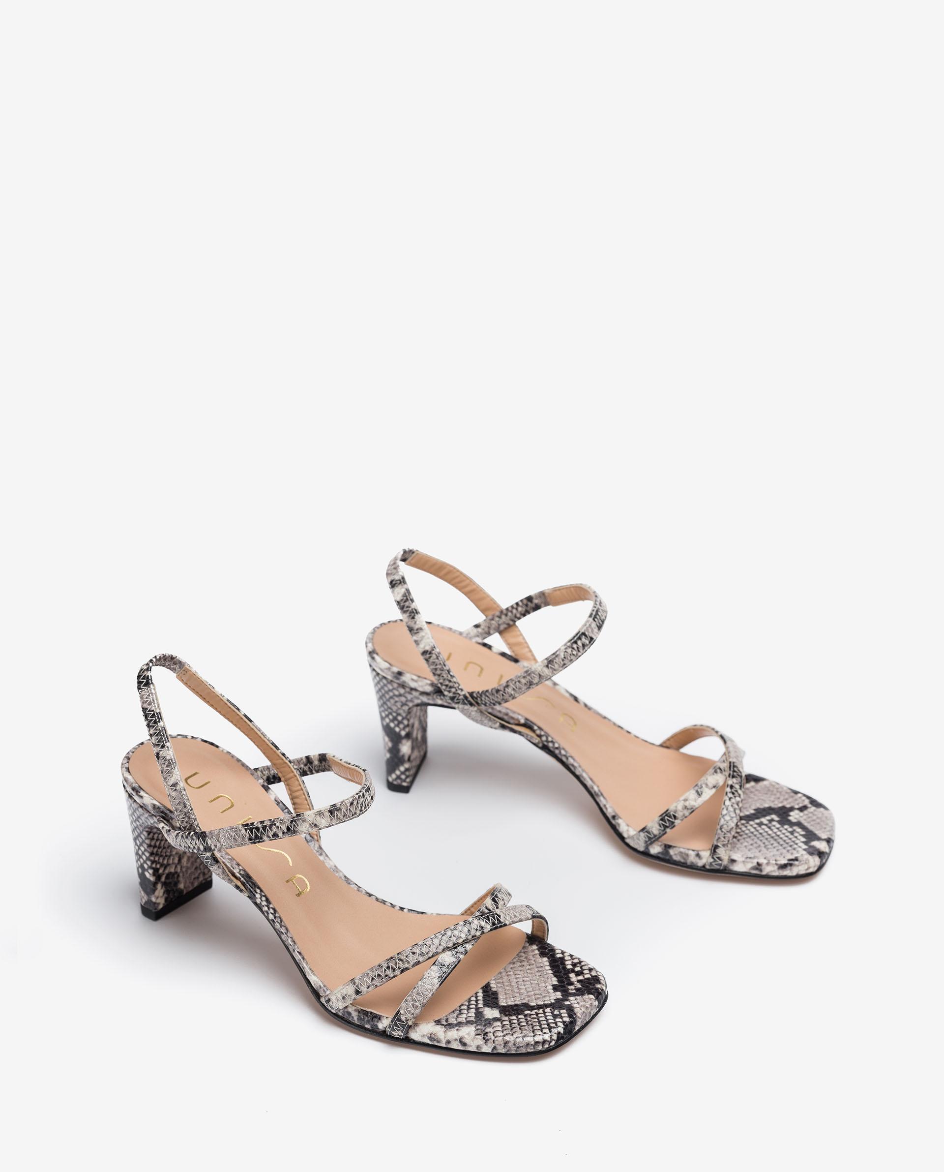 UNISA Crossed leather straps sandals MONI_SNC 2