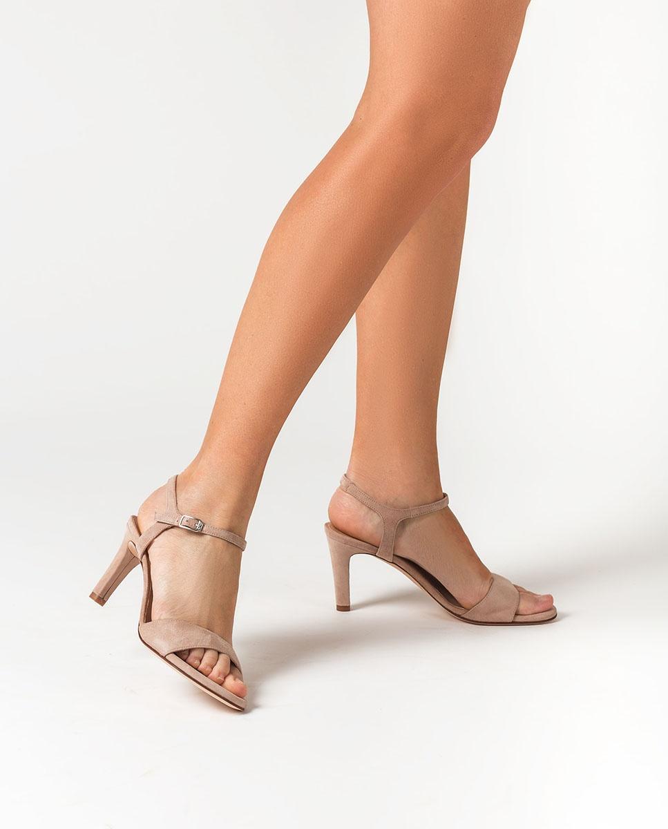 UNISA Kid suede heel sandals OBANO_KS nude 2