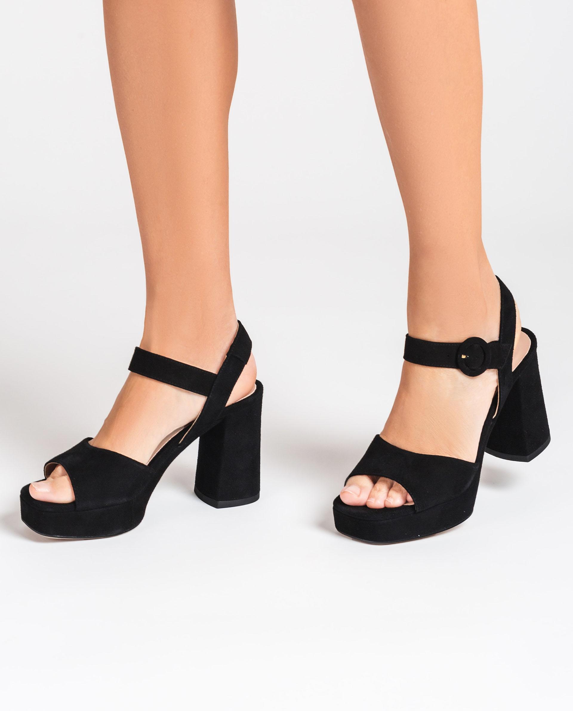 UNISA Kid suede sandals wide heel ODRAN_KS 2