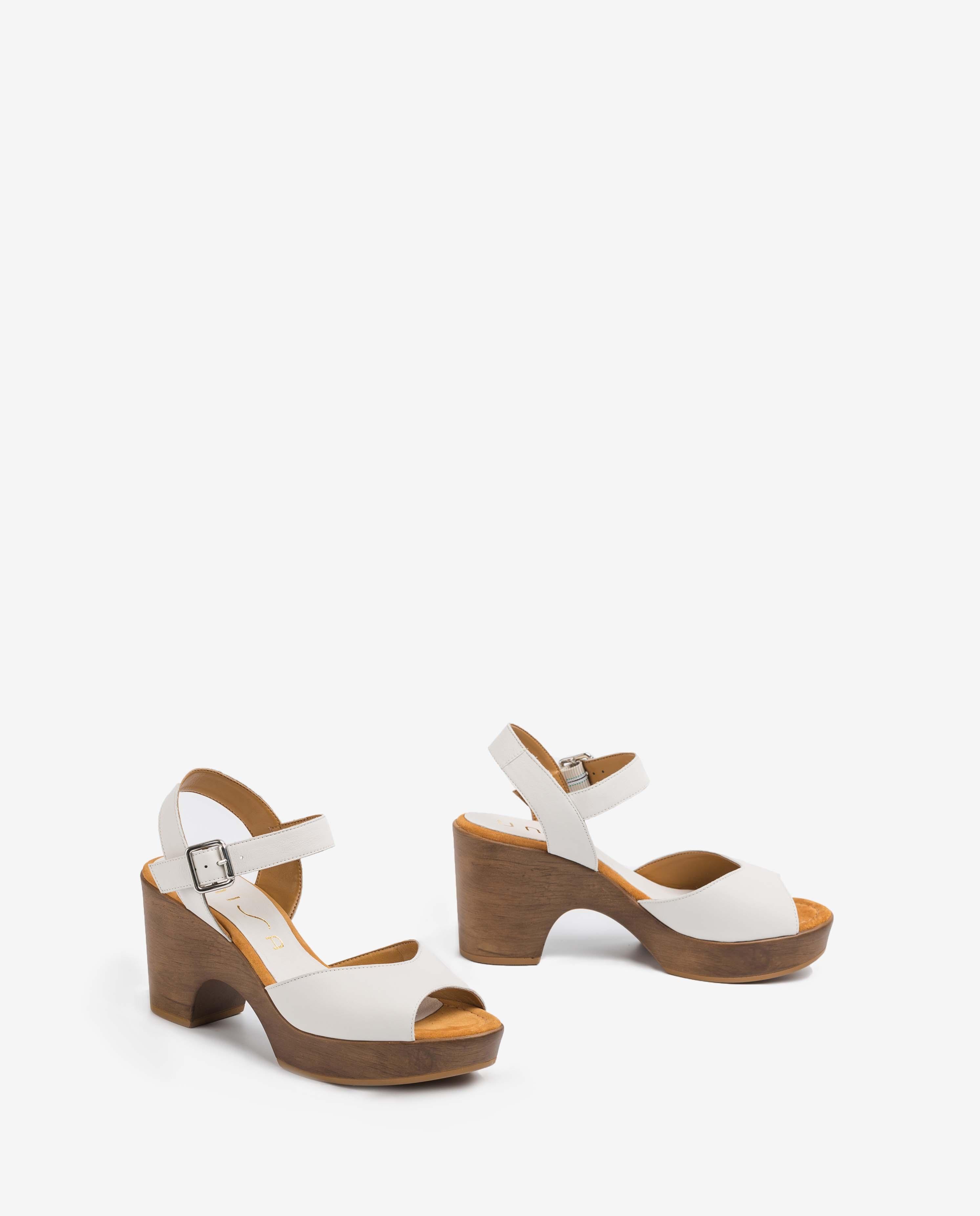 UNISA White leather sandals OTTIS_STY ivory 2